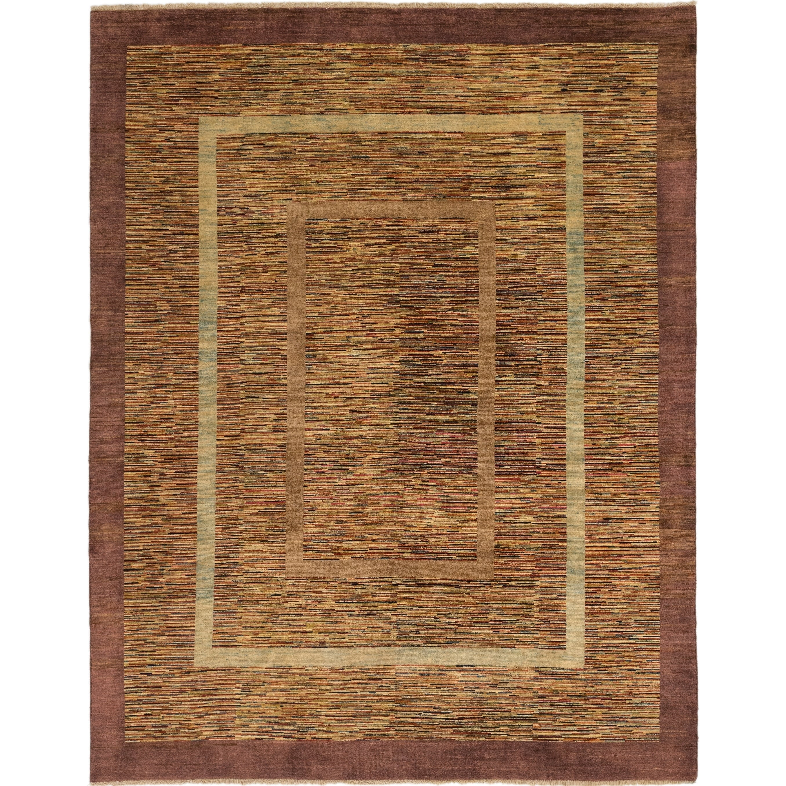 Hand Knotted Kashkuli Gabbeh Wool Area Rug - 8 x 10 4 (Multi - 8 x 10 4)