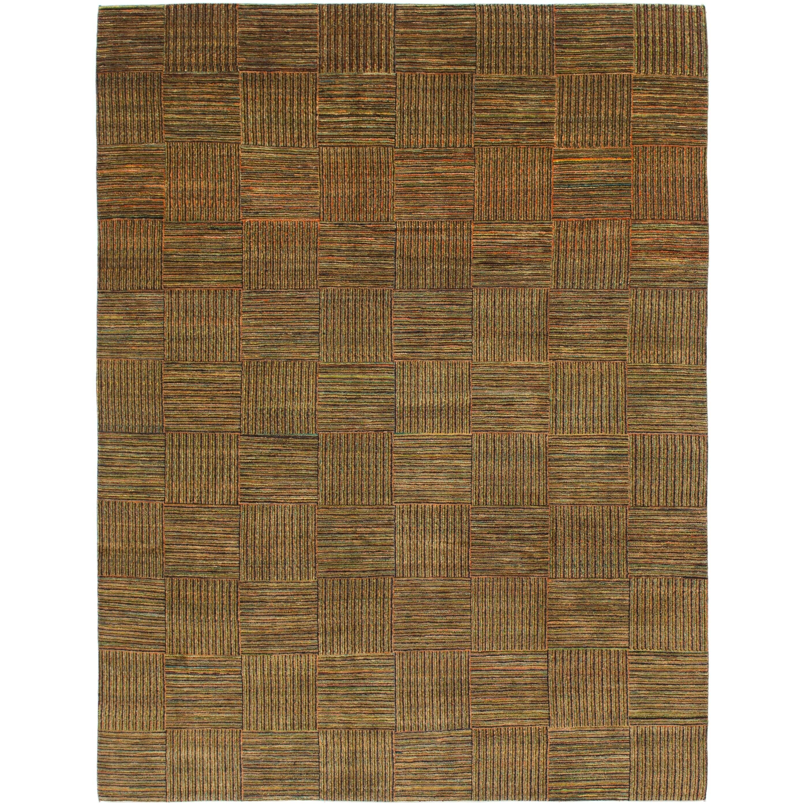 Hand Knotted Kashkuli Gabbeh Wool Area Rug - 8 2 x 10 8 (Multi - 8 2 x 10 8)