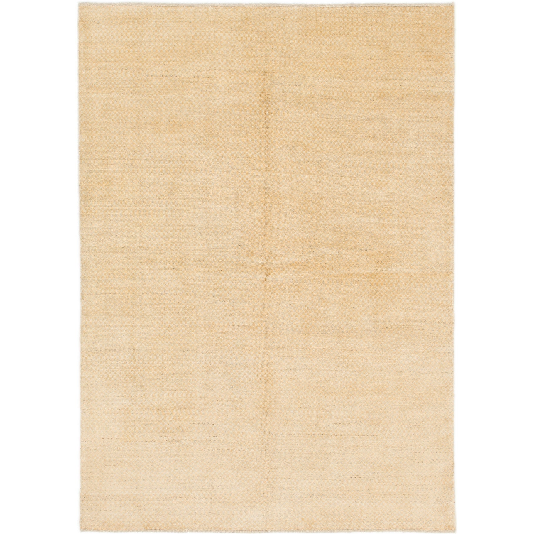 Hand Knotted Kashkuli Gabbeh Wool Area Rug - 5 5 x 7 7 (Gold - 5 5 x 7 7)