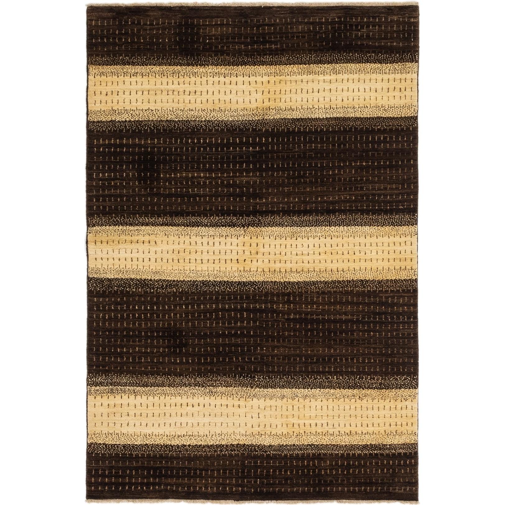 Hand Knotted Kashkuli Gabbeh Wool Area Rug - 5 x 7 3 (Brown - 5 x 7 3)