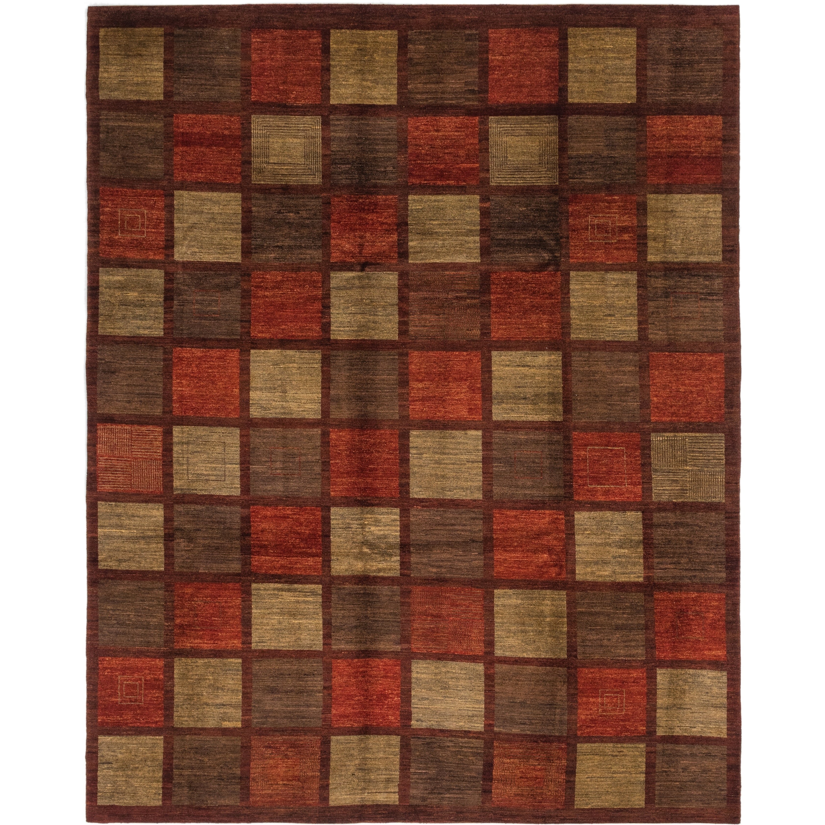 Hand Knotted Kashkuli Gabbeh Wool Area Rug - 10 2 x 12 8 (Red - 10 2 x 12 8)