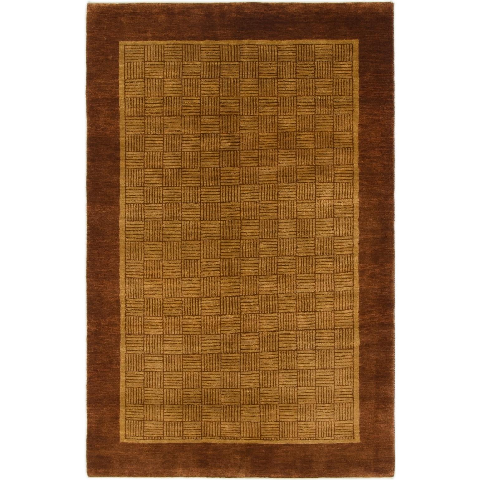 Hand Knotted Kashkuli Gabbeh Wool Area Rug - 3 10 x 6 1 (Beige - 3 10 x 6 1)