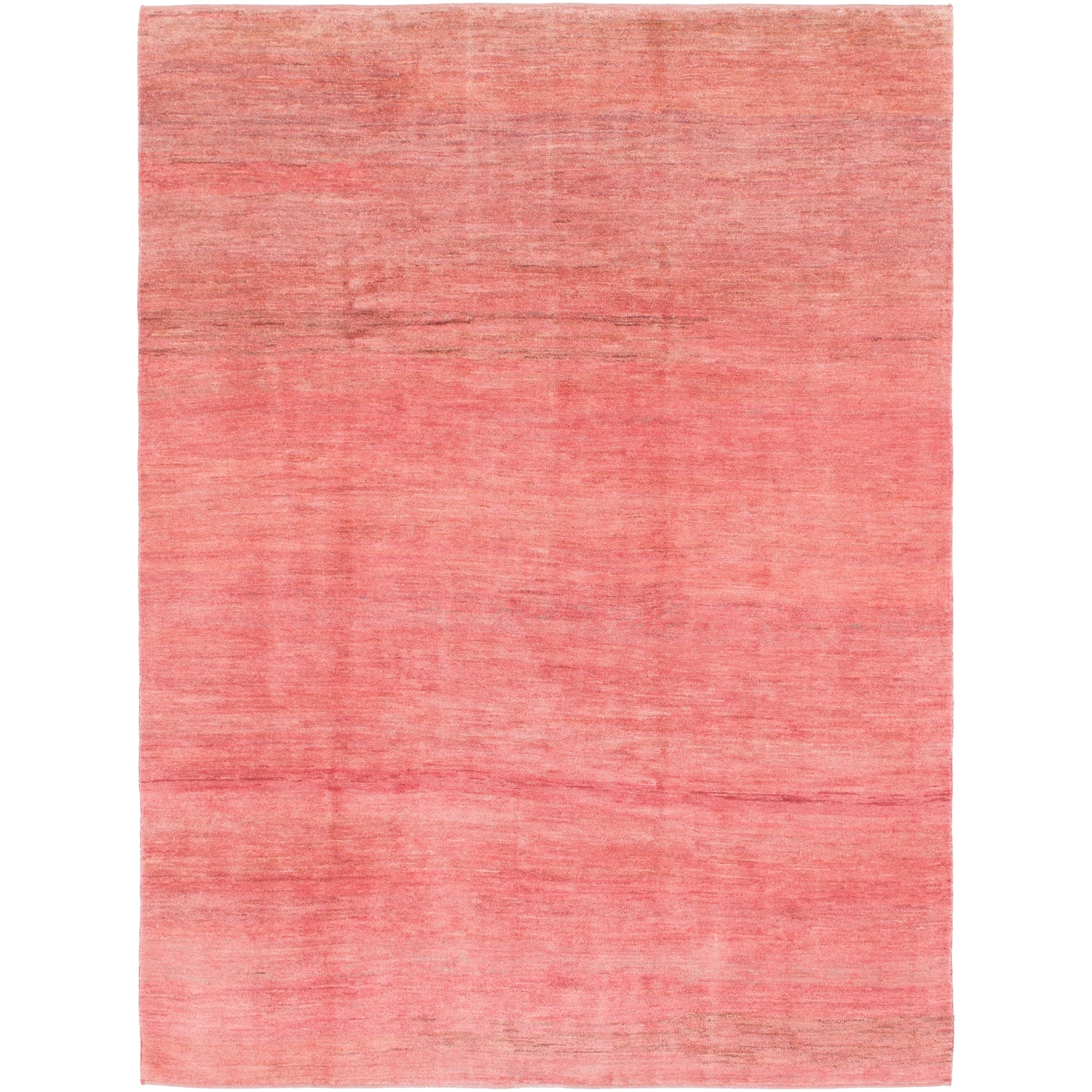 Hand Knotted Kashkuli Gabbeh Wool Area Rug - 6 7 x 8 10 (Rust Red - 6 7 x 8 10)