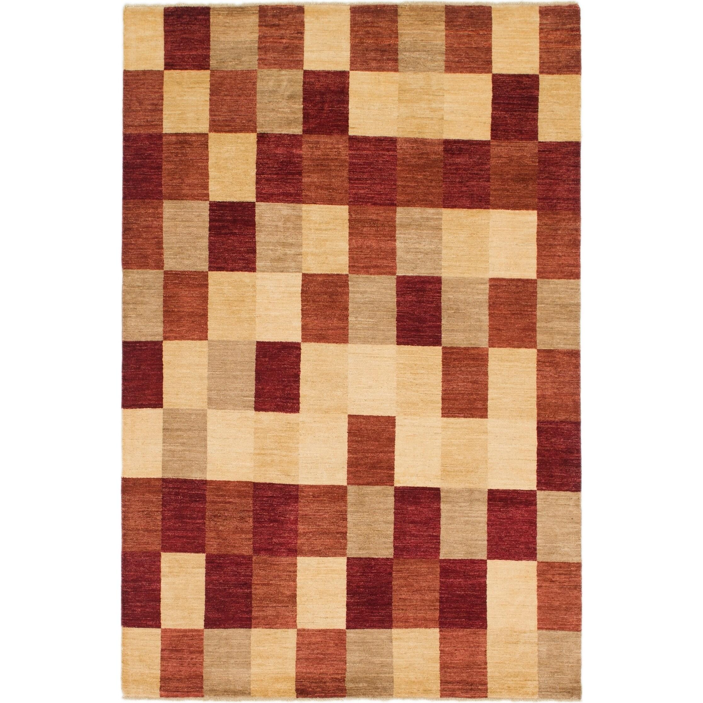 Hand Knotted Kashkuli Gabbeh Wool Area Rug - 6 7 x 10 (Multi - 6 7 x 10)