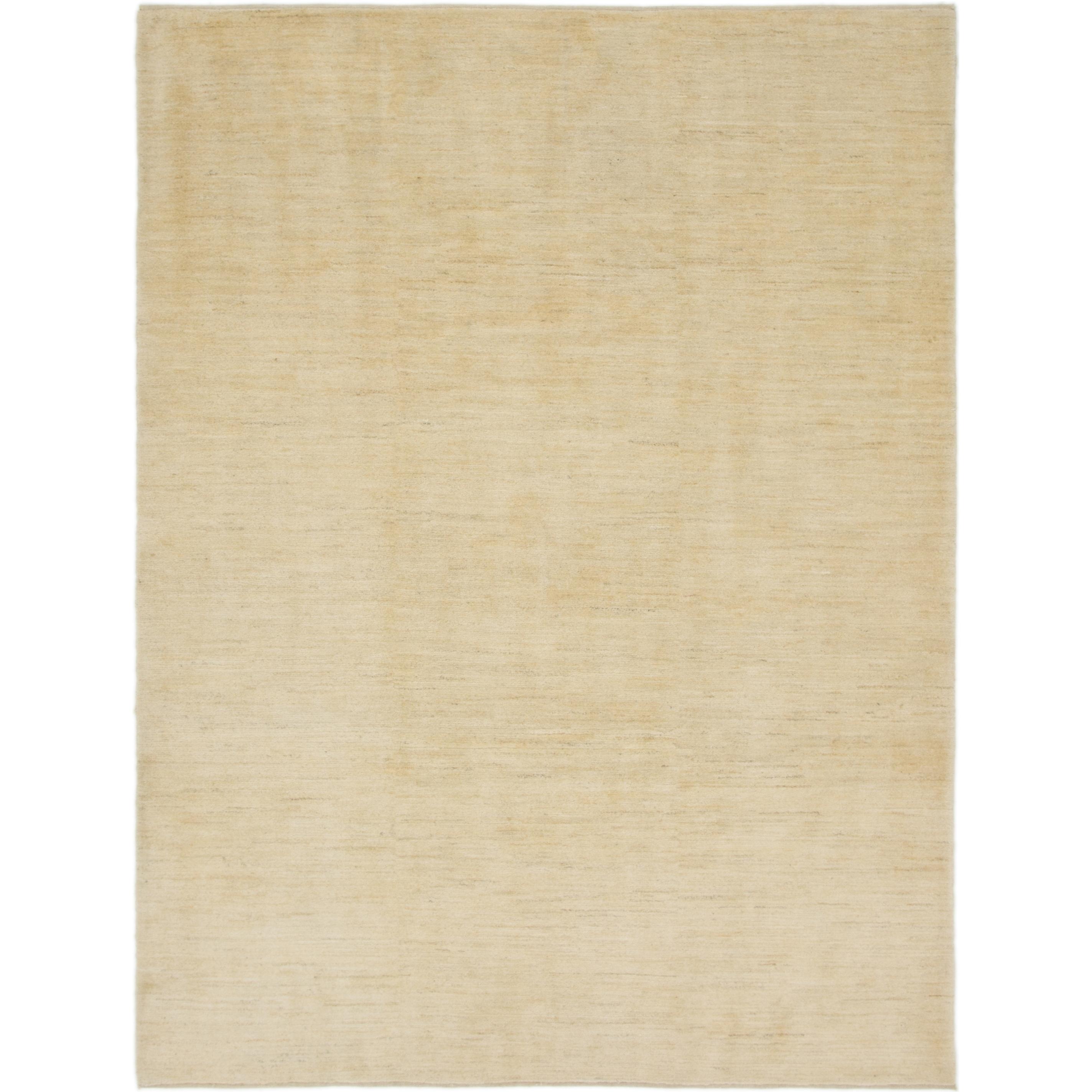Hand Knotted Kashkuli Gabbeh Wool Area Rug - 7 4 x 9 10 (Cream - 7 4 x 9 10)