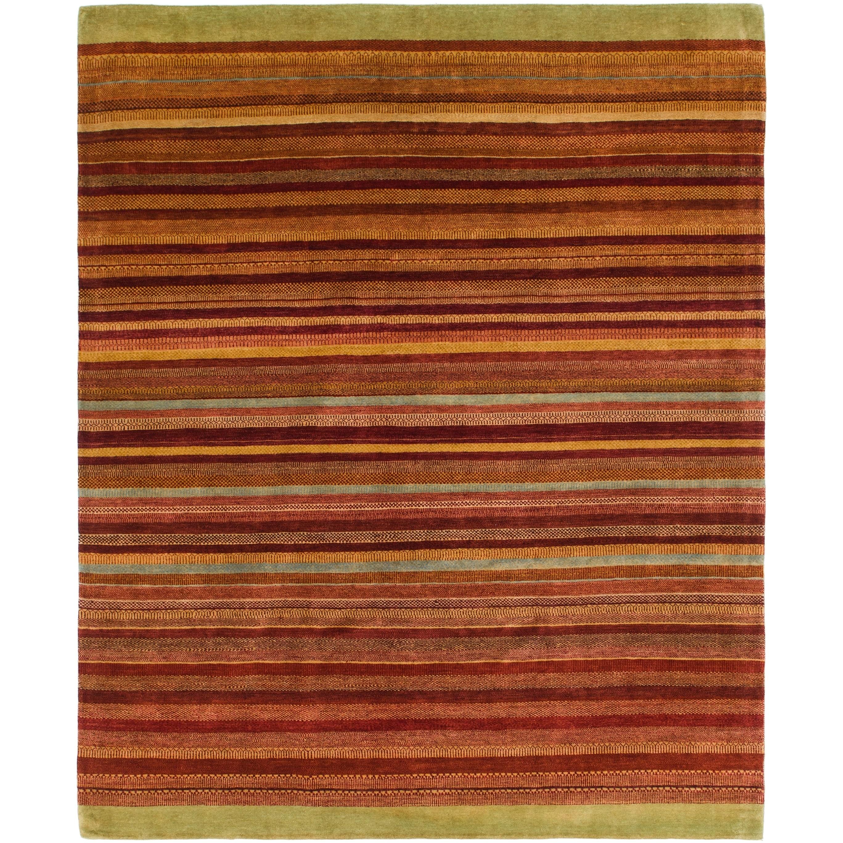 Hand Knotted Kashkuli Gabbeh Wool Area Rug - 8 x 9 10 (Multi - 8 x 9 10)