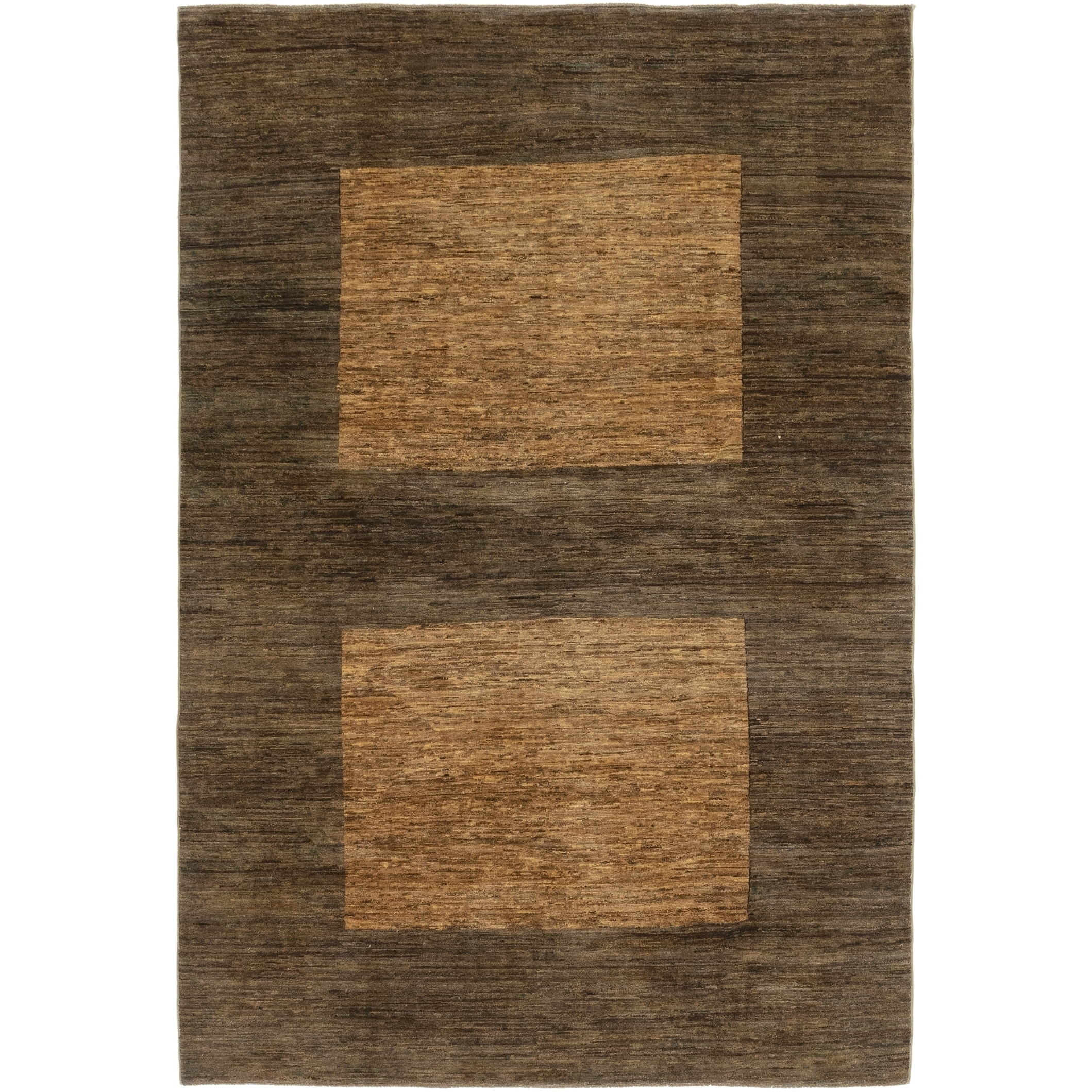 Hand Knotted Kashkuli Gabbeh Wool Area Rug - 6 x 9 3 (Brown - 6 x 9 3)