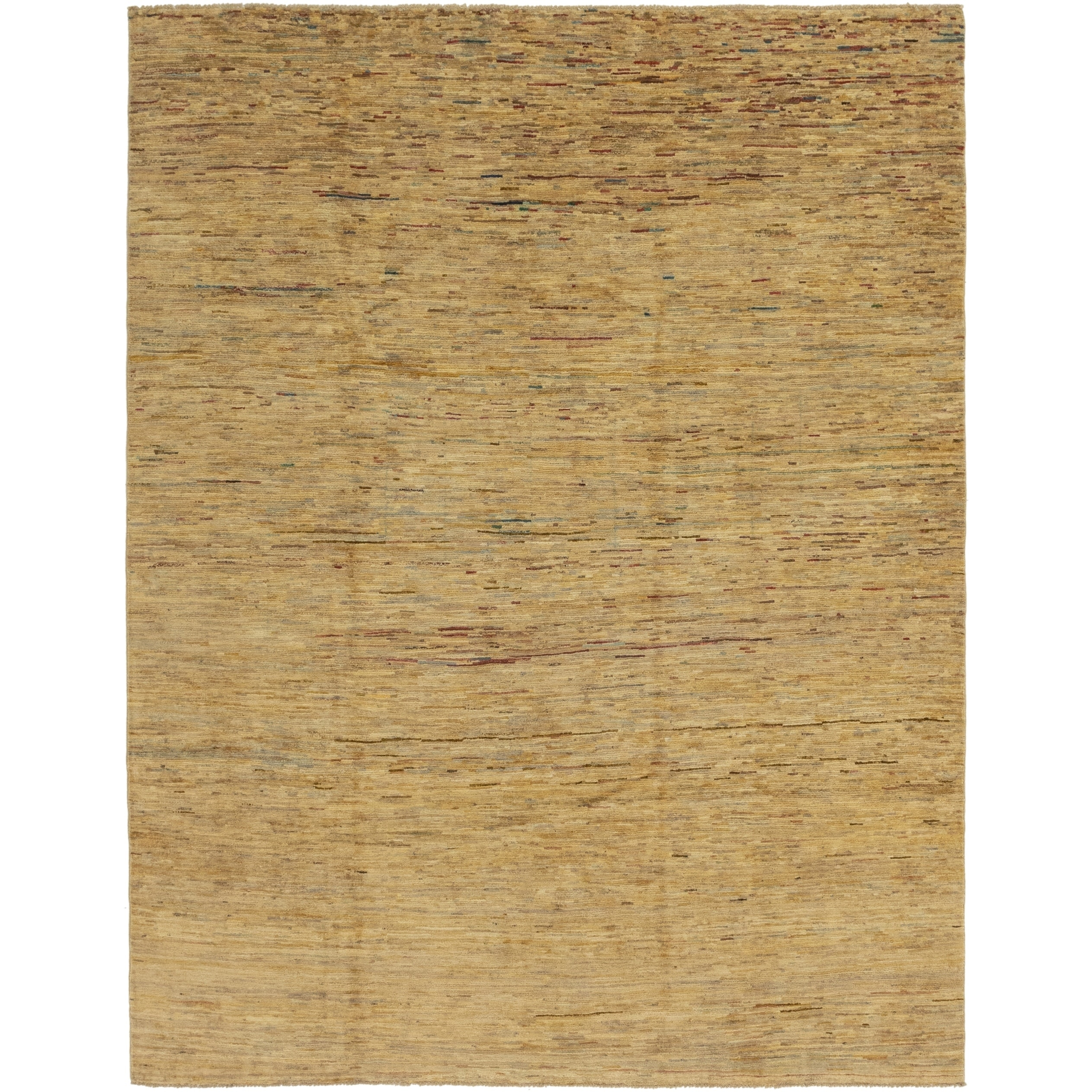 Hand Knotted Kashkuli Gabbeh Wool Area Rug - 7 5 x 9 6 (Gold - 7 5 x 9 6)