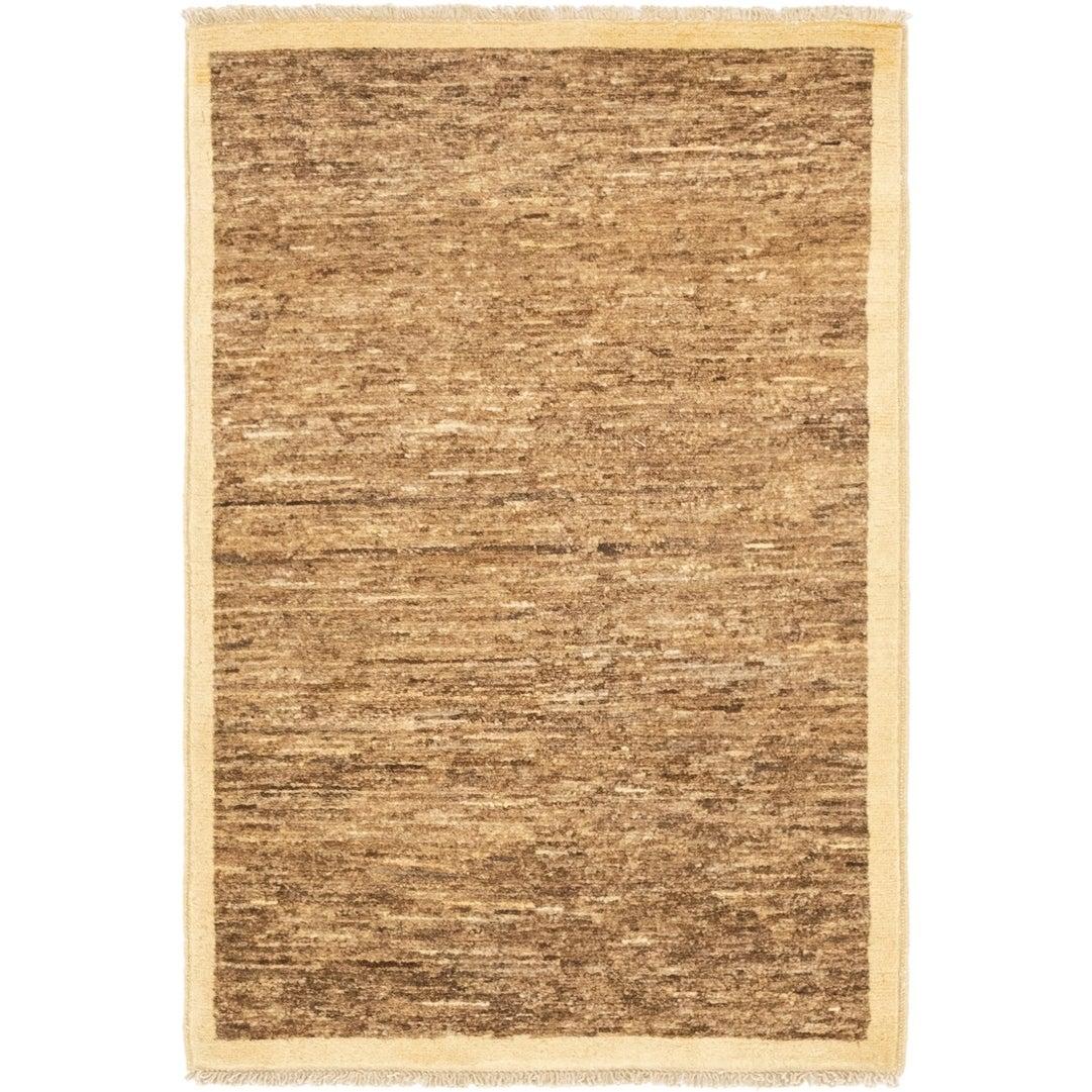 Hand Knotted Kashkuli Gabbeh Wool Area Rug - 2 8 x 4 (Brown - 2 8 x 4)