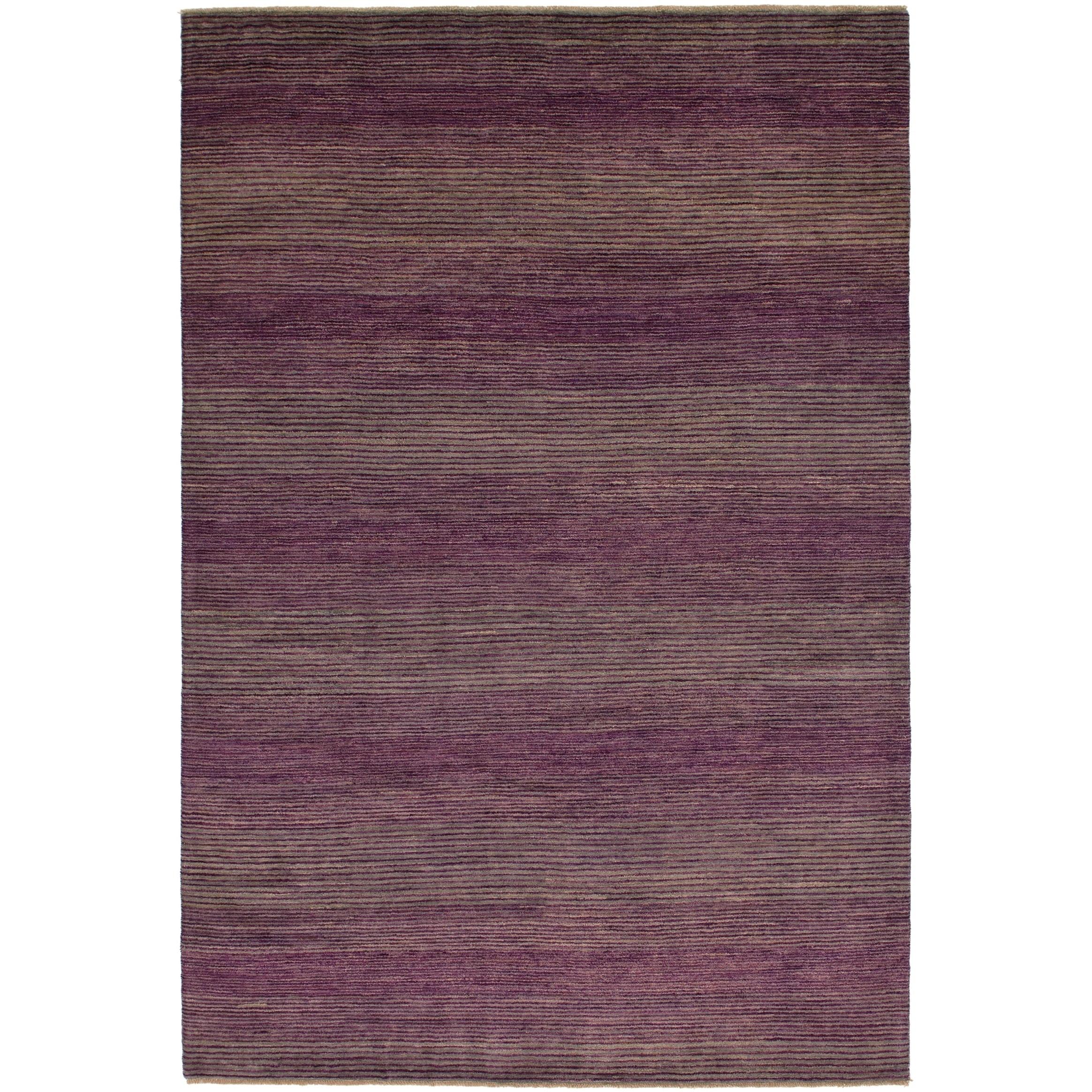 Hand Knotted Kashkuli Gabbeh Wool Area Rug - 6 8 x 10 (Purple - 6 8 x 10)
