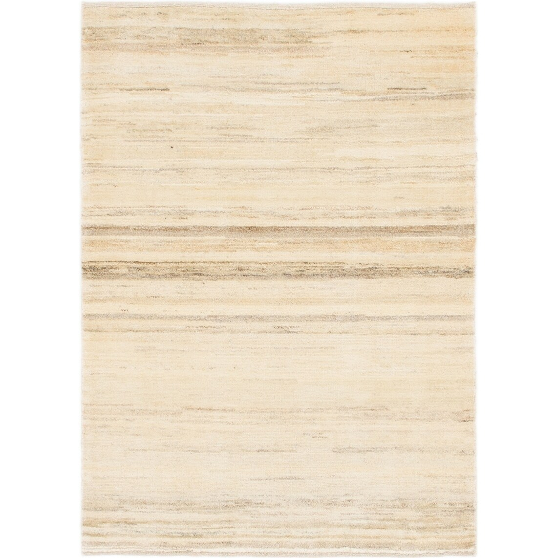 Hand Knotted Kashkuli Gabbeh Wool Area Rug - 3 5 x 4 10 (Cream - 3 5 x 4 10)