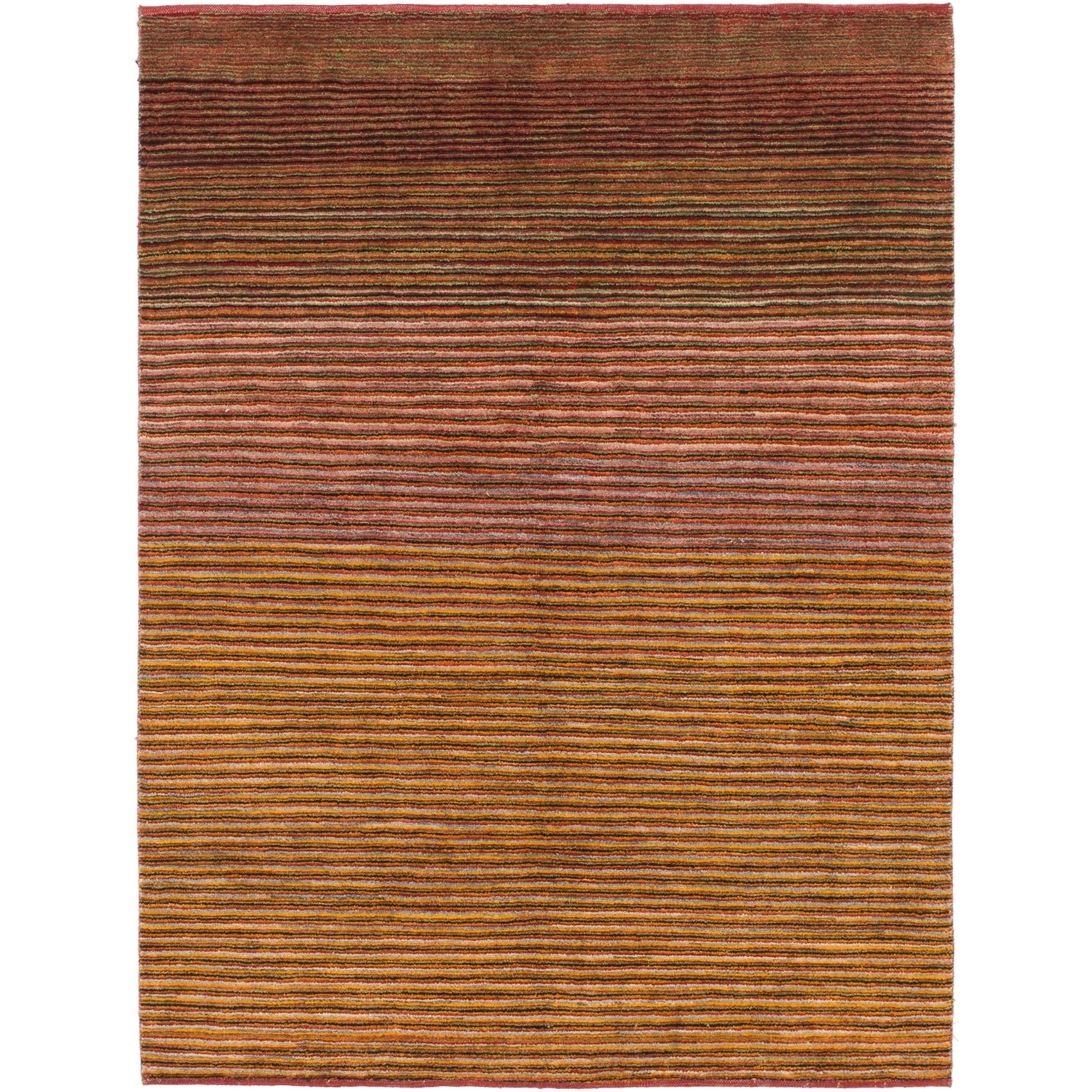 Hand Knotted Kashkuli Gabbeh Wool Area Rug - 5 x 6 7 (Red - 5 x 6 7)