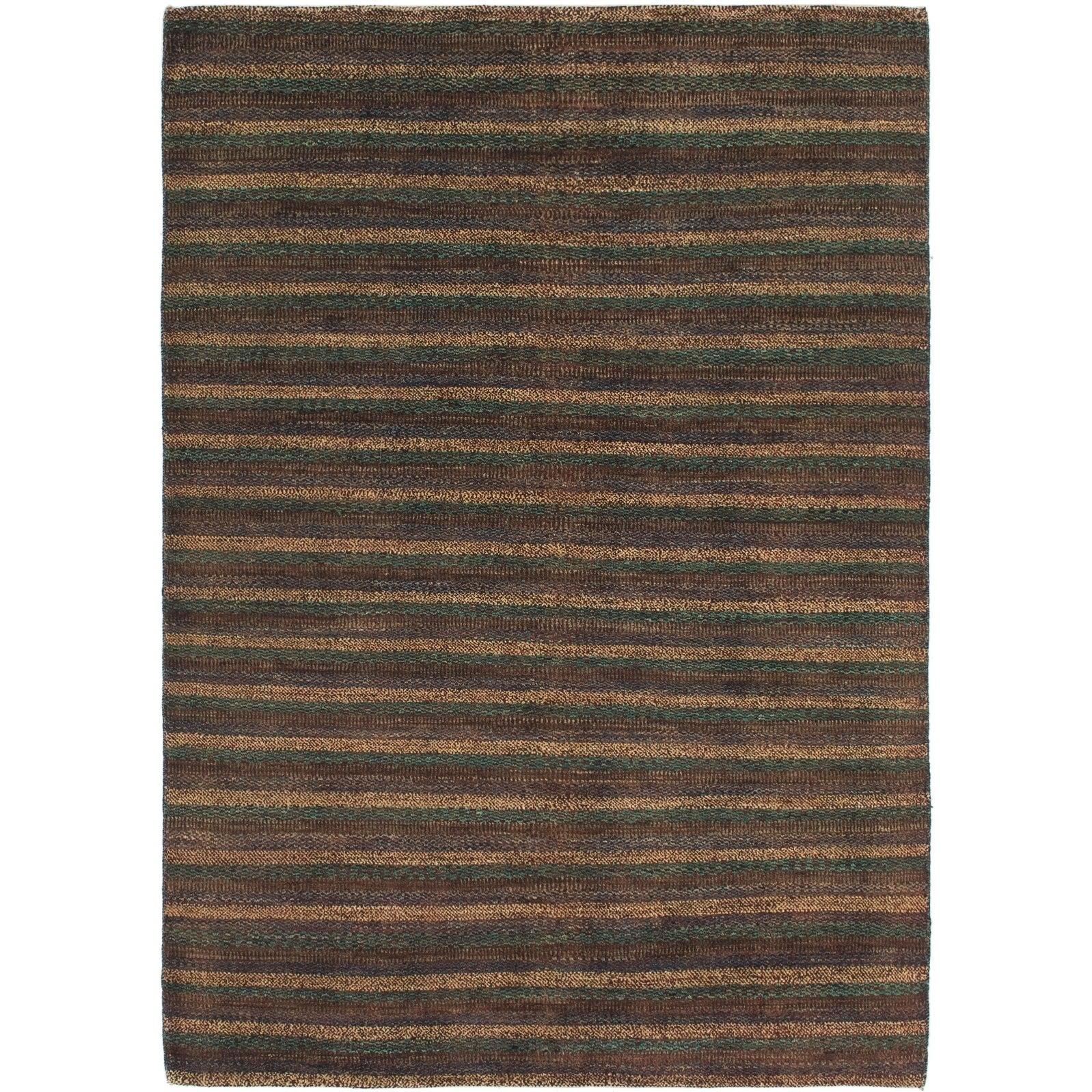 Hand Knotted Kashkuli Gabbeh Wool Area Rug - 4 7 x 6 7 (Brown - 4 7 x 6 7)