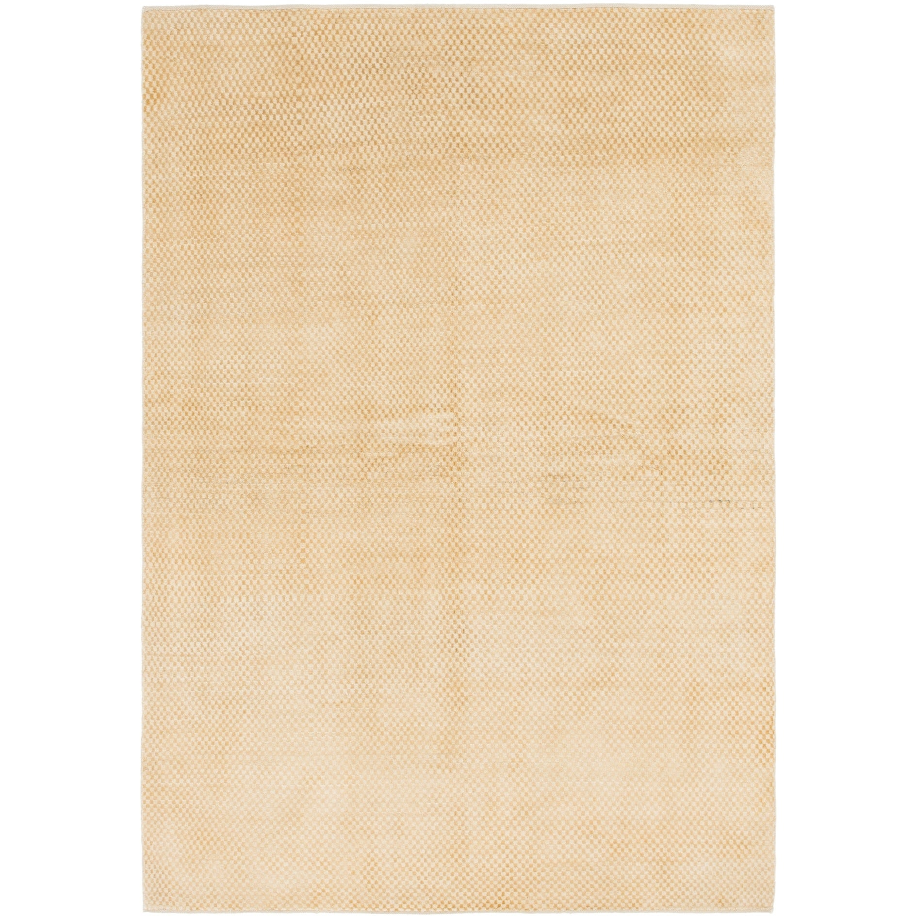 Hand Knotted Kashkuli Gabbeh Wool Area Rug - 5 4 x 7 10 (Gold - 5 4 x 7 10)