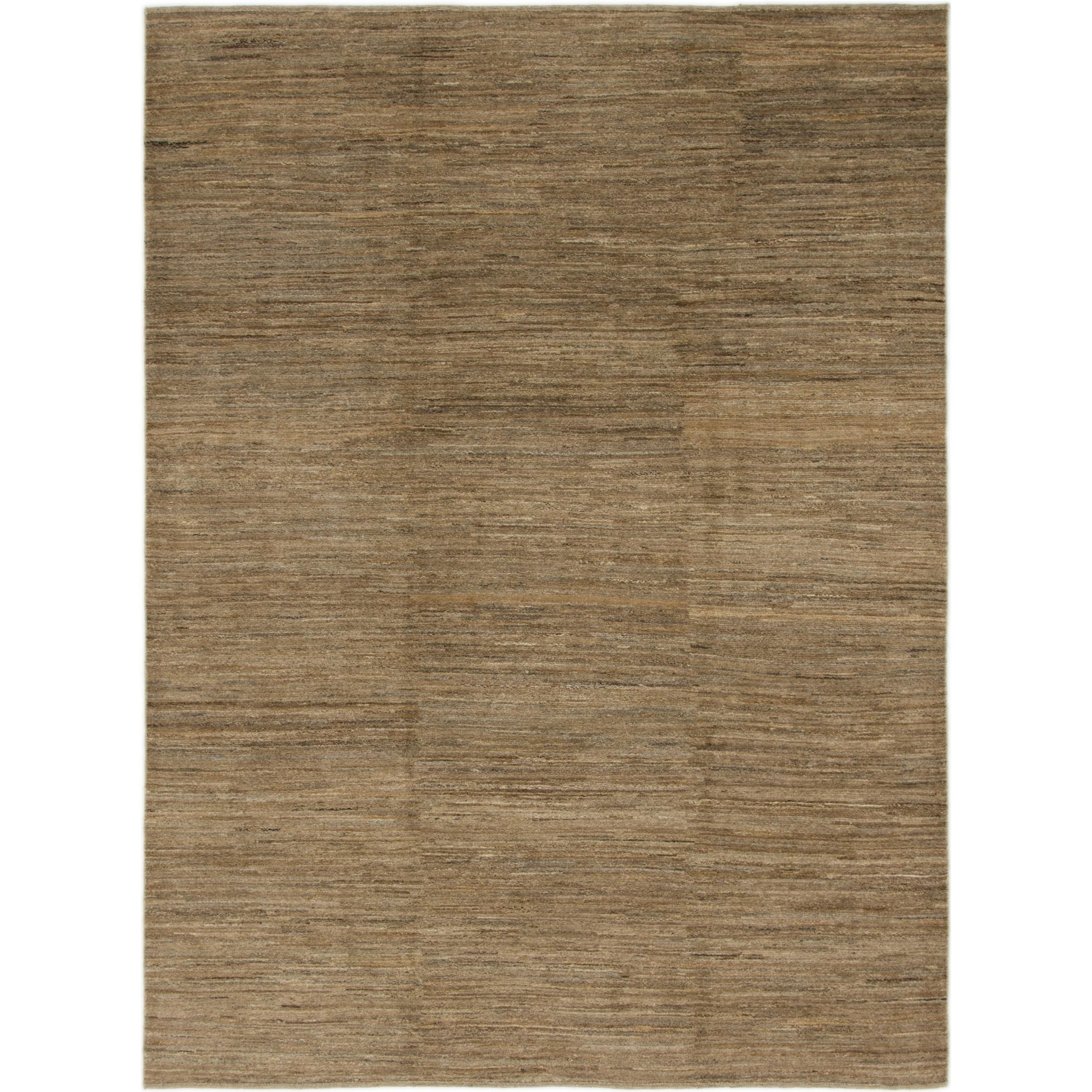 Hand Knotted Kashkuli Gabbeh Wool Area Rug - 6 9 x 9 3 (Light brown - 6 9 x 9 3)