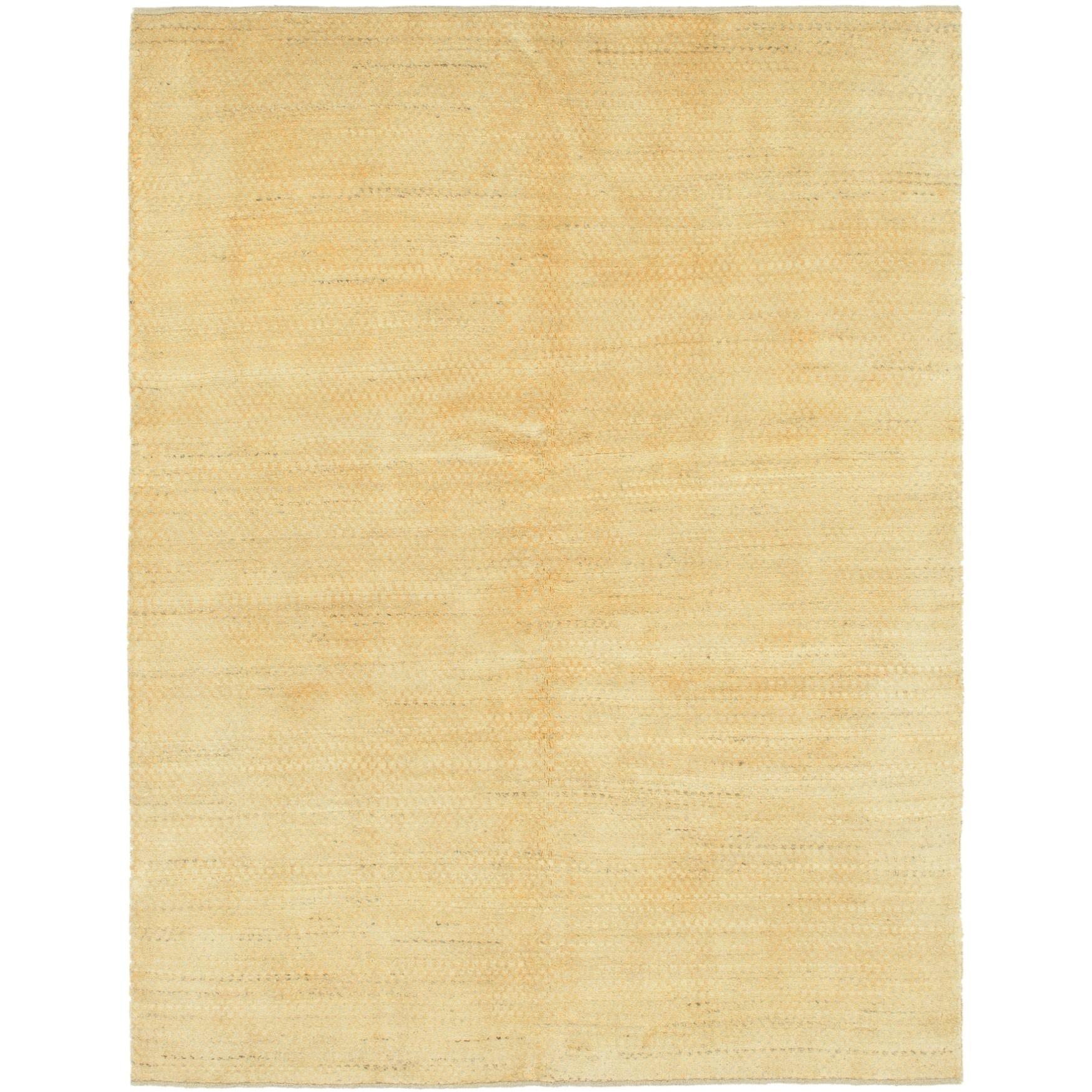 Hand Knotted Kashkuli Gabbeh Wool Area Rug - 5 x 6 6 (Gold - 5 x 6 6)