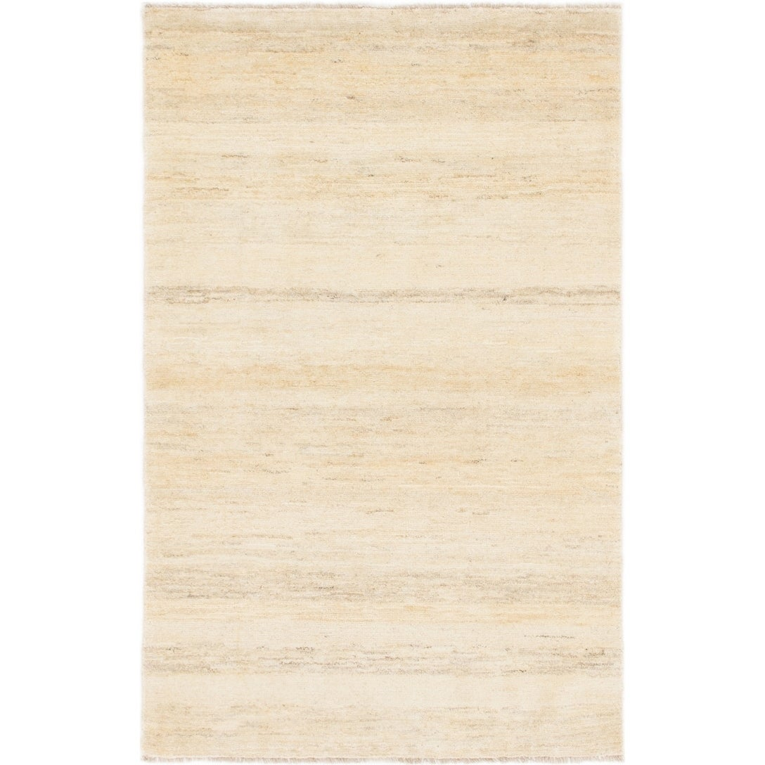 Hand Knotted Kashkuli Gabbeh Wool Area Rug - 3 3 x 5 2 (Cream - 3 3 x 5 2)