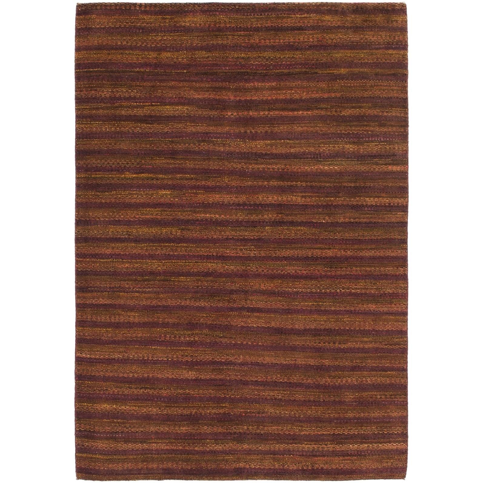 Hand Knotted Kashkuli Gabbeh Wool Area Rug - 4 7 x 6 8 (Burgundy - 4 7 x 6 8)