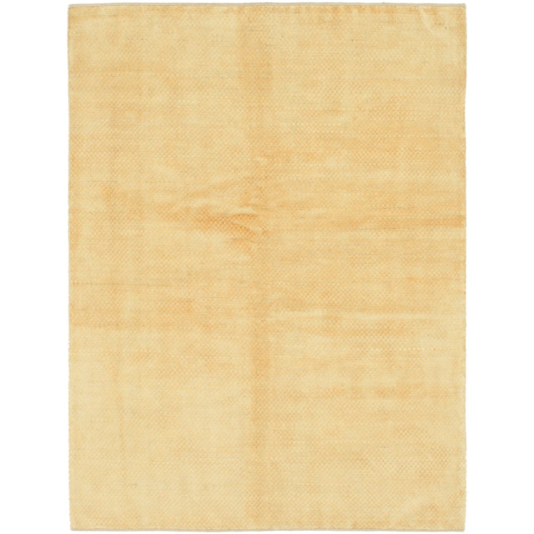 Hand Knotted Kashkuli Gabbeh Wool Area Rug - 5 x 6 7 (Gold - 5 x 6 7)