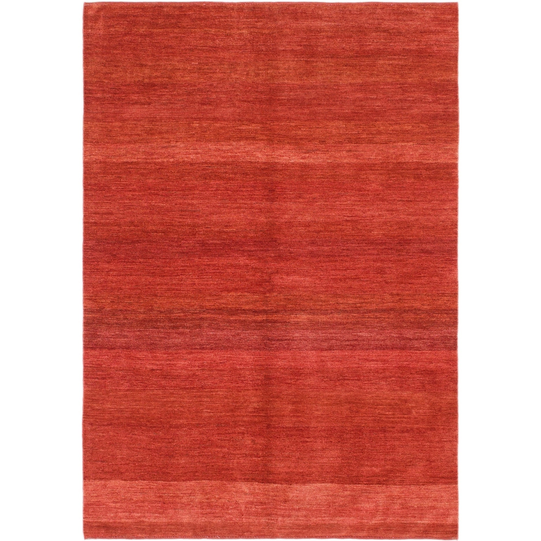 Hand Knotted Kashkuli Gabbeh Wool Area Rug - 5 7 x 8 (Red - 5 7 x 8)