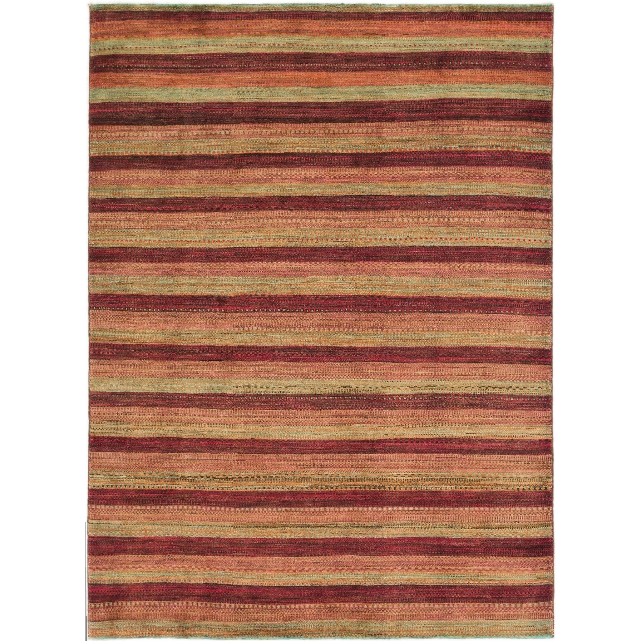 Hand Knotted Kashkuli Gabbeh Wool Area Rug - 6 2 x 8 5 (Multi - 6 2 x 8 5)