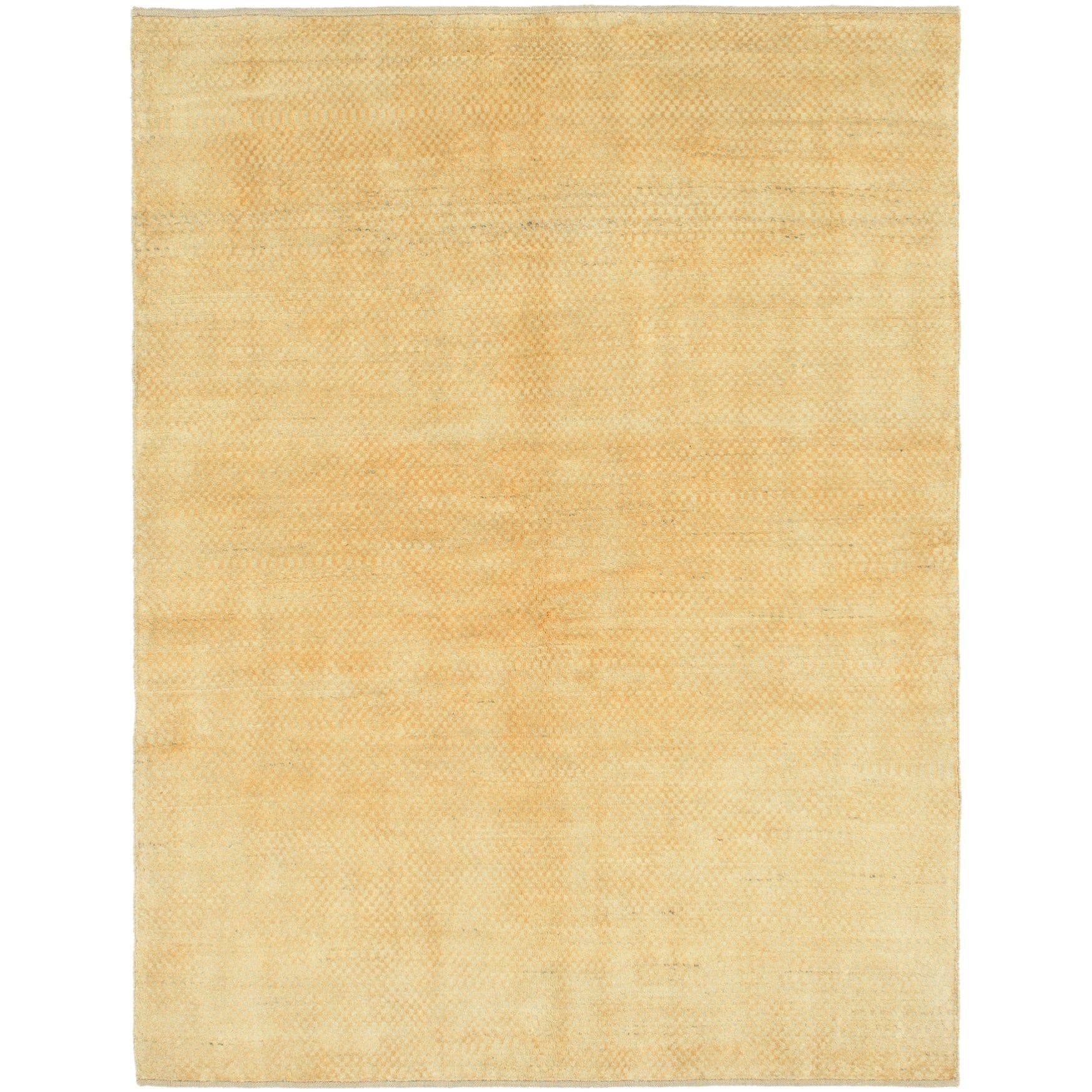 Hand Knotted Kashkuli Gabbeh Wool Area Rug - 5 x 6 8 (Gold - 5 x 6 8)