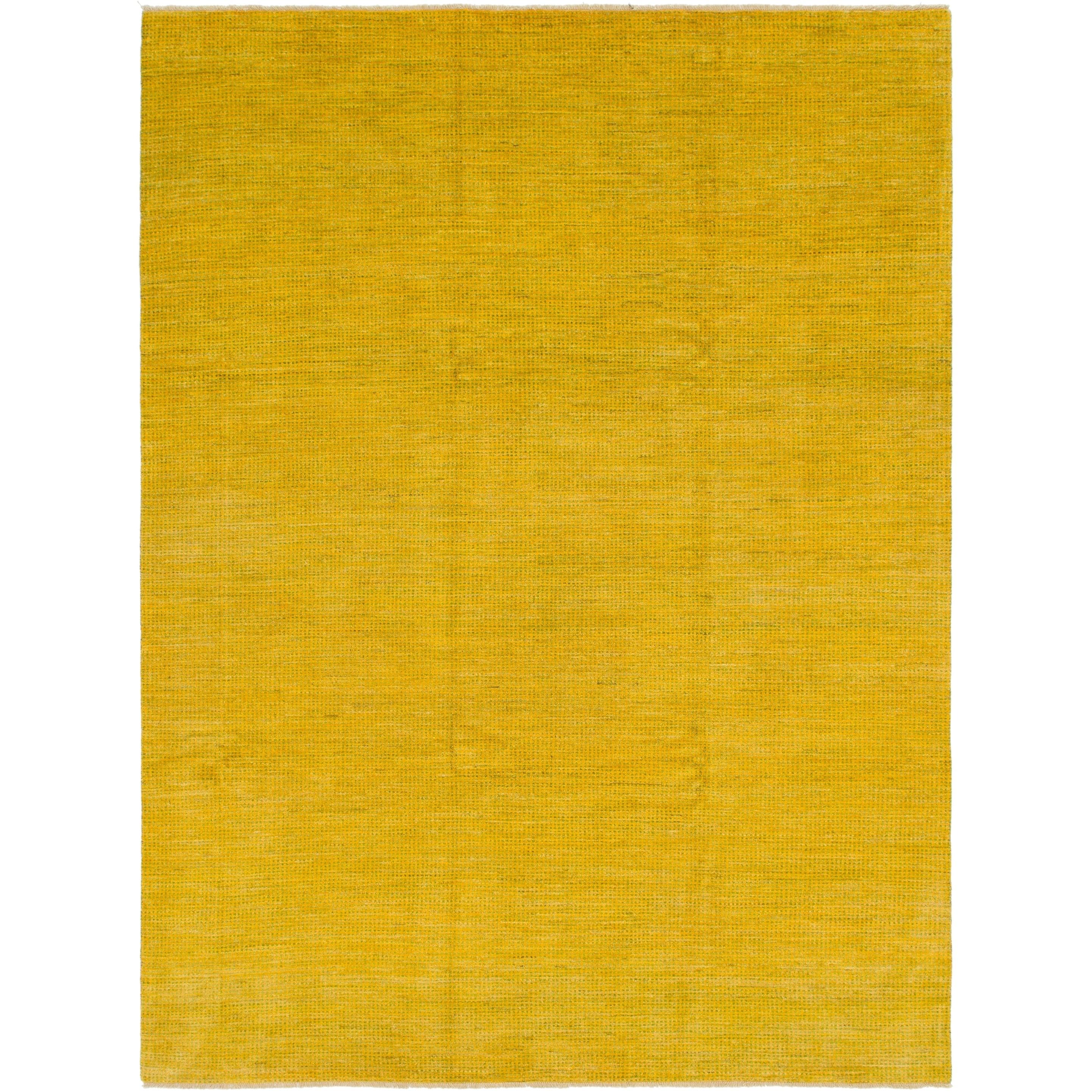 Hand Knotted Kashkuli Gabbeh Wool Area Rug - 8 6 x 11 2 (Yellow - 8 6 x 11 2)