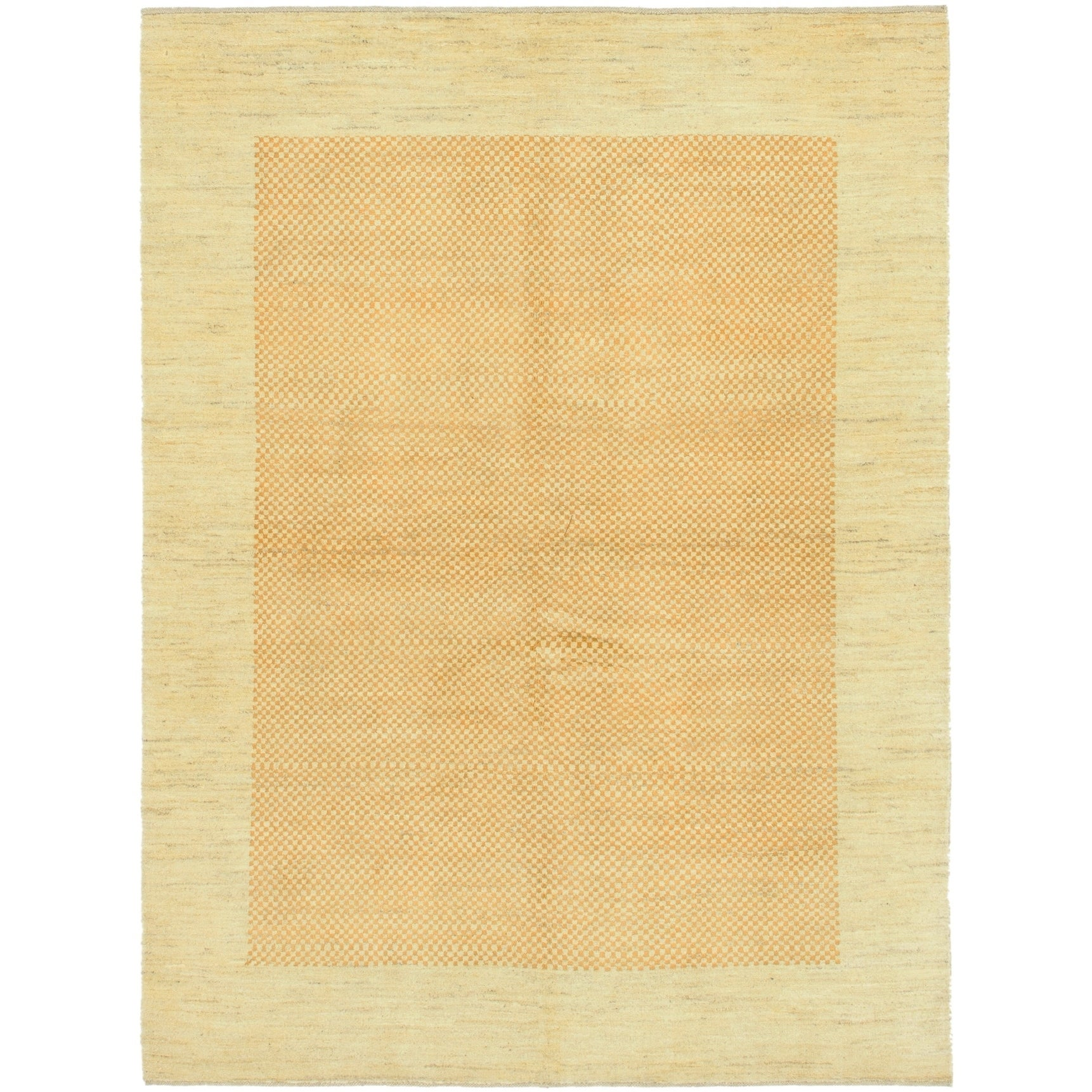 Hand Knotted Kashkuli Gabbeh Wool Area Rug - 5 x 6 8 (Gold - 5 x 6 8)