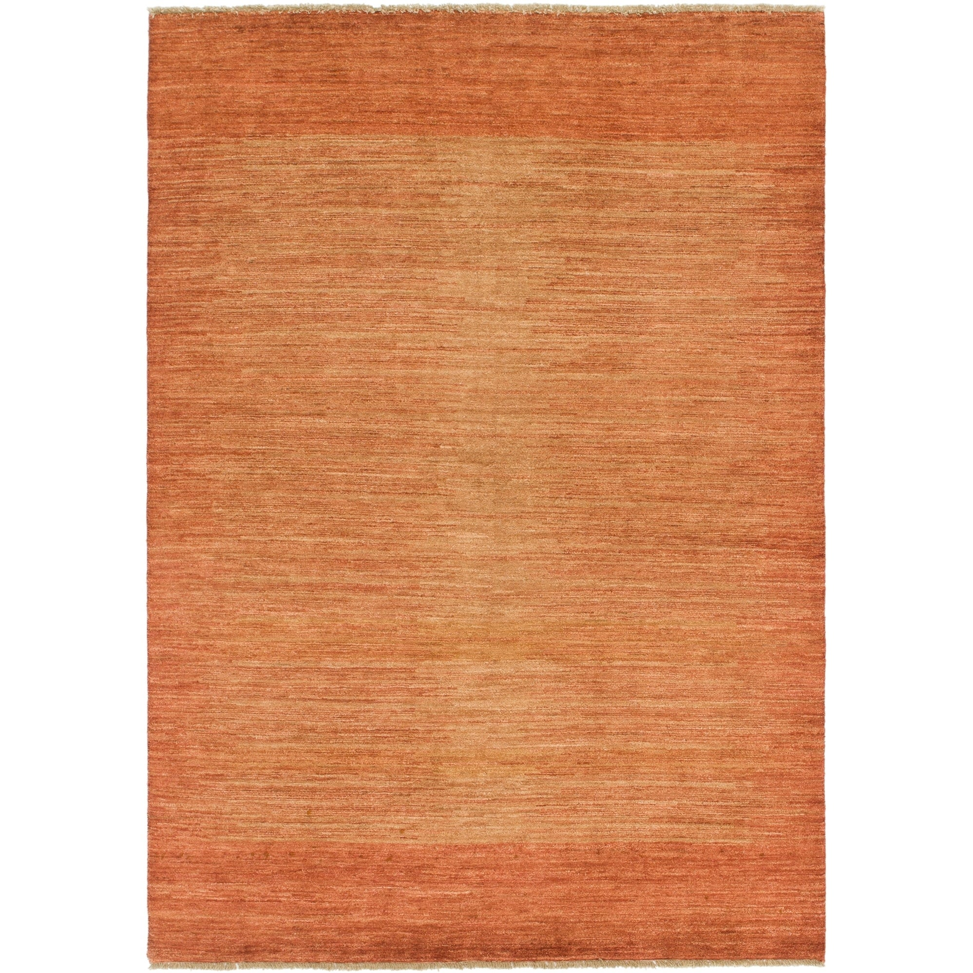 Hand Knotted Kashkuli Gabbeh Wool Area Rug - 5 8 x 8 2 (Rust Red - 5 8 x 8 2)