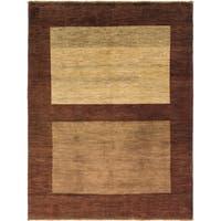 Hand Knotted Kashkuli Gabbeh Wool Area Rug - 5' 8 x 7' 5