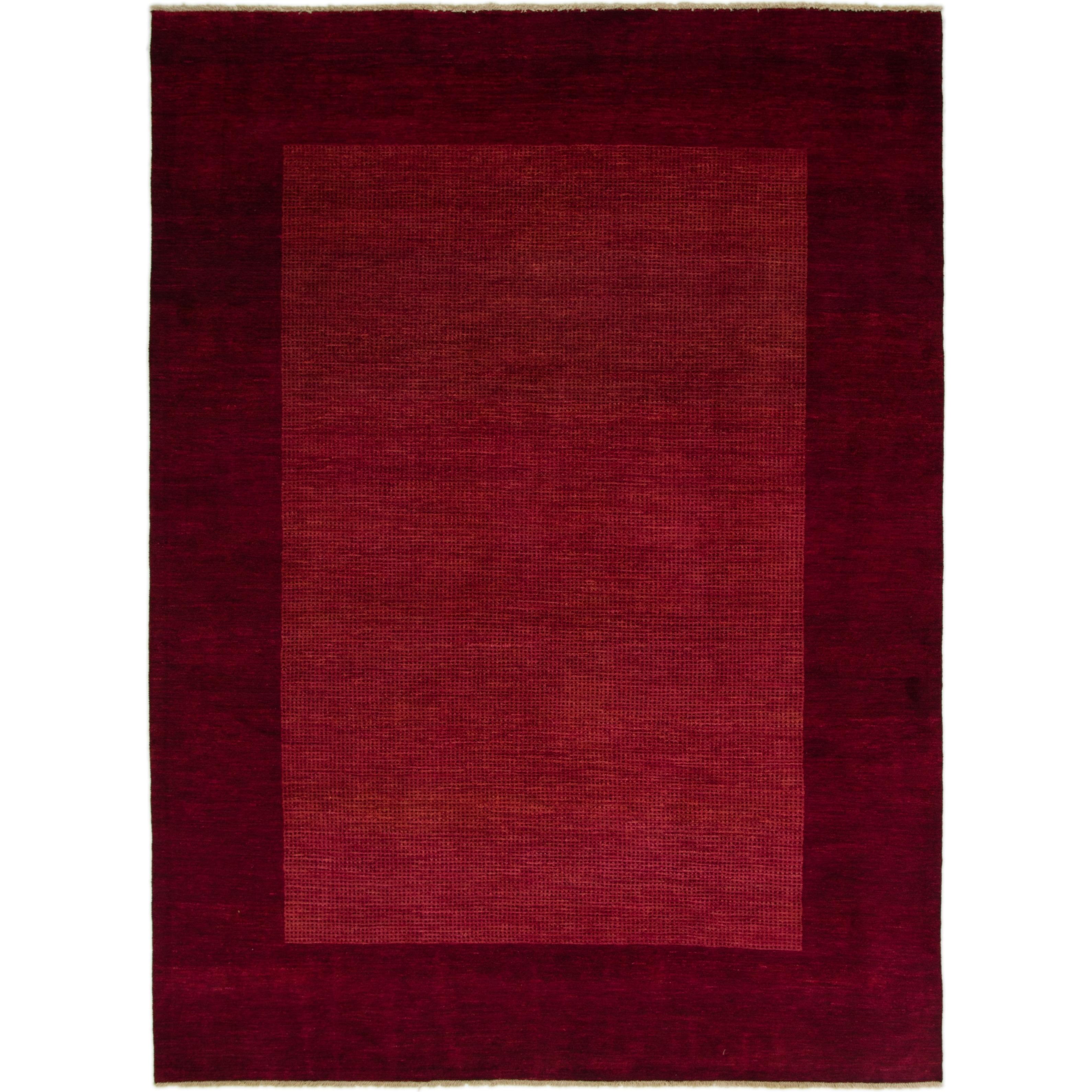 Hand Knotted Kashkuli Gabbeh Wool Area Rug - 8 2 x 11 (Burgundy - 8 2 x 11)
