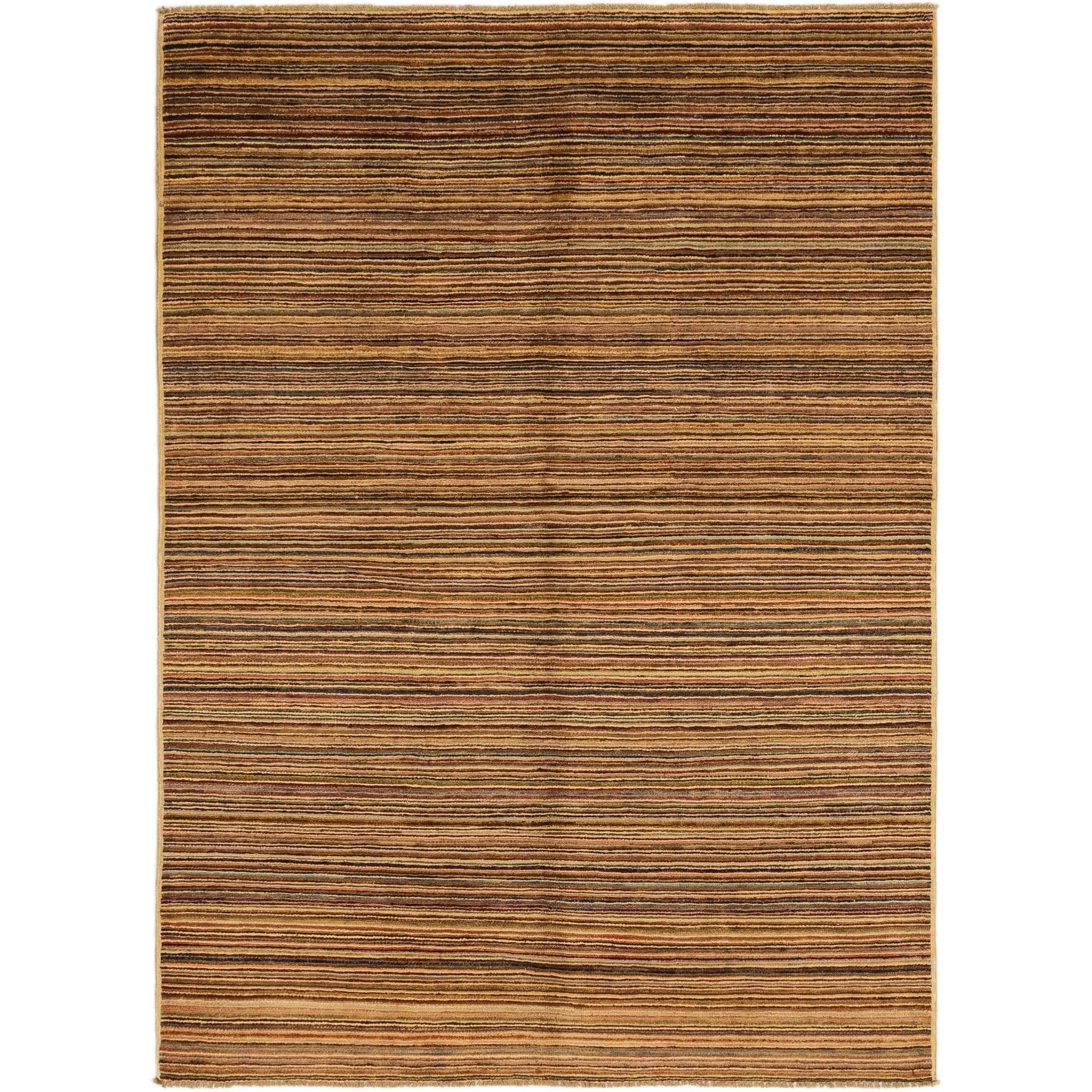 Hand Knotted Kashkuli Gabbeh Wool Area Rug - 5 3 x 7 4 (Multi - 5 3 x 7 4)