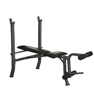 Sunny Health & Fitness Adjustable Weight Bench with Decline, Flat and Incline Training Positions and Leg Developer