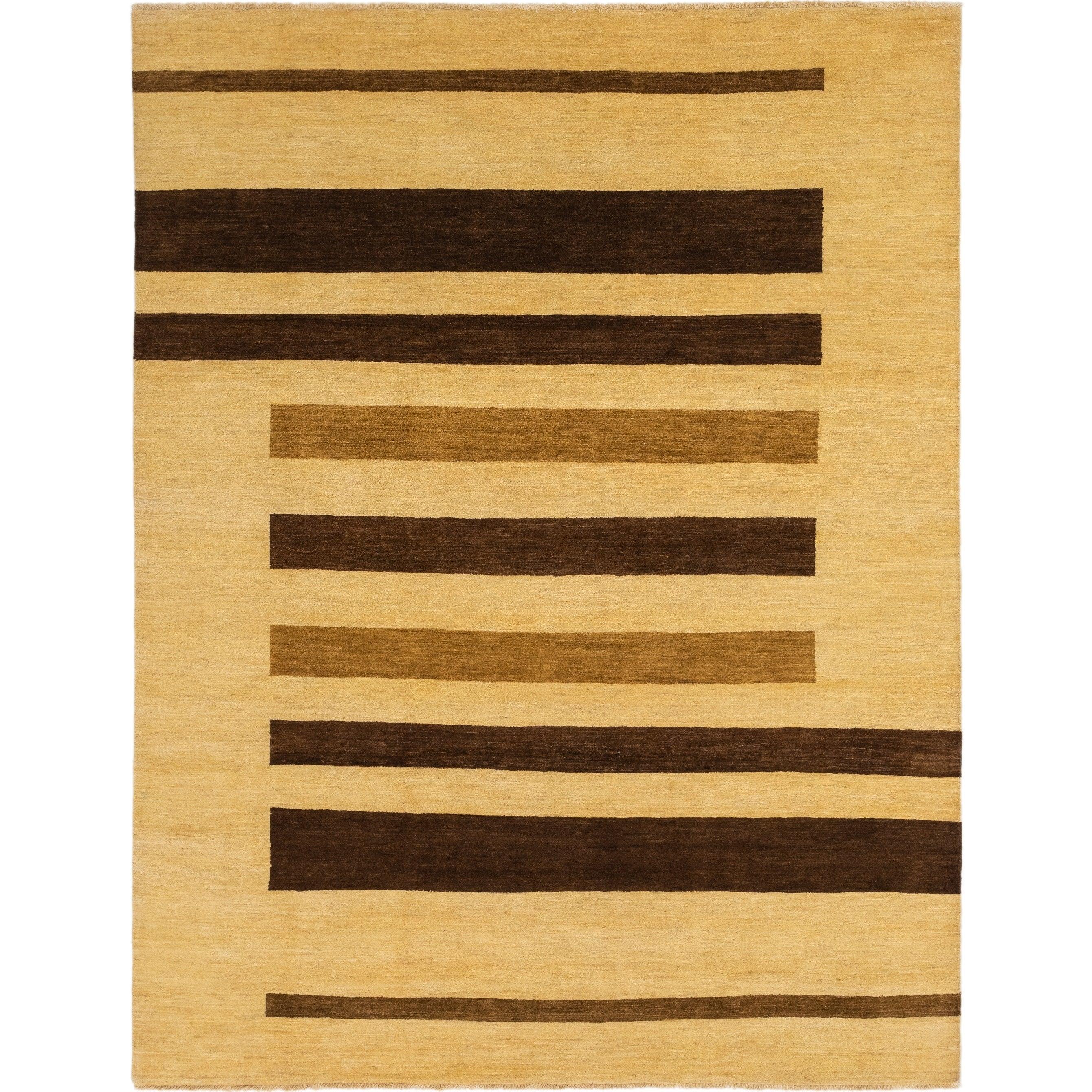 Hand Knotted Kashkuli Gabbeh Wool Area Rug - 8 2 x 10 7 (Cream - 8 2 x 10 7)