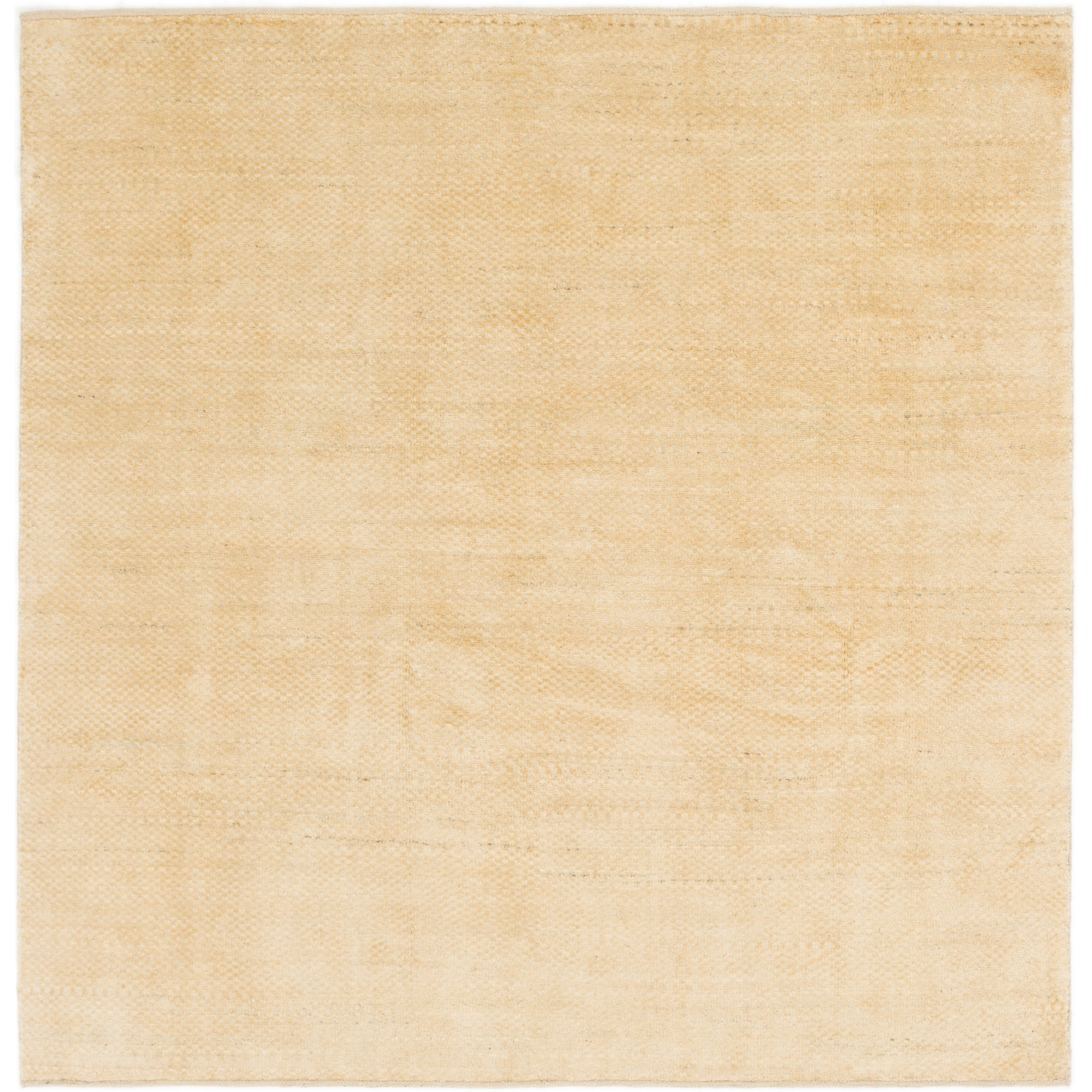 Hand Knotted Kashkuli Gabbeh Wool Square Rug - 6 6 x 6 6 (Cream - 6 6 x 6 6)