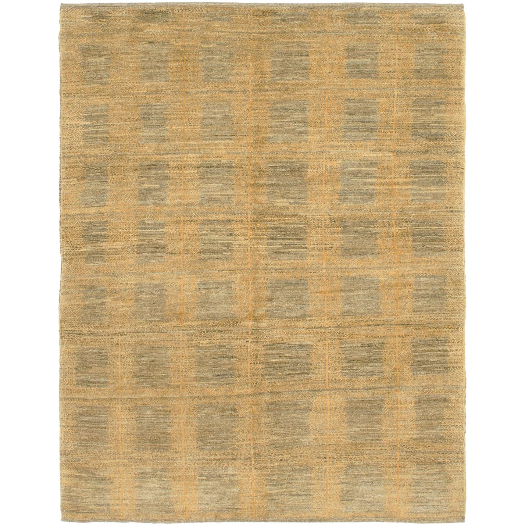 Hand Knotted Kashkuli Gabbeh Wool Area Rug - 4 10 x 6 5 (Brown - 4 10 x 6 5)