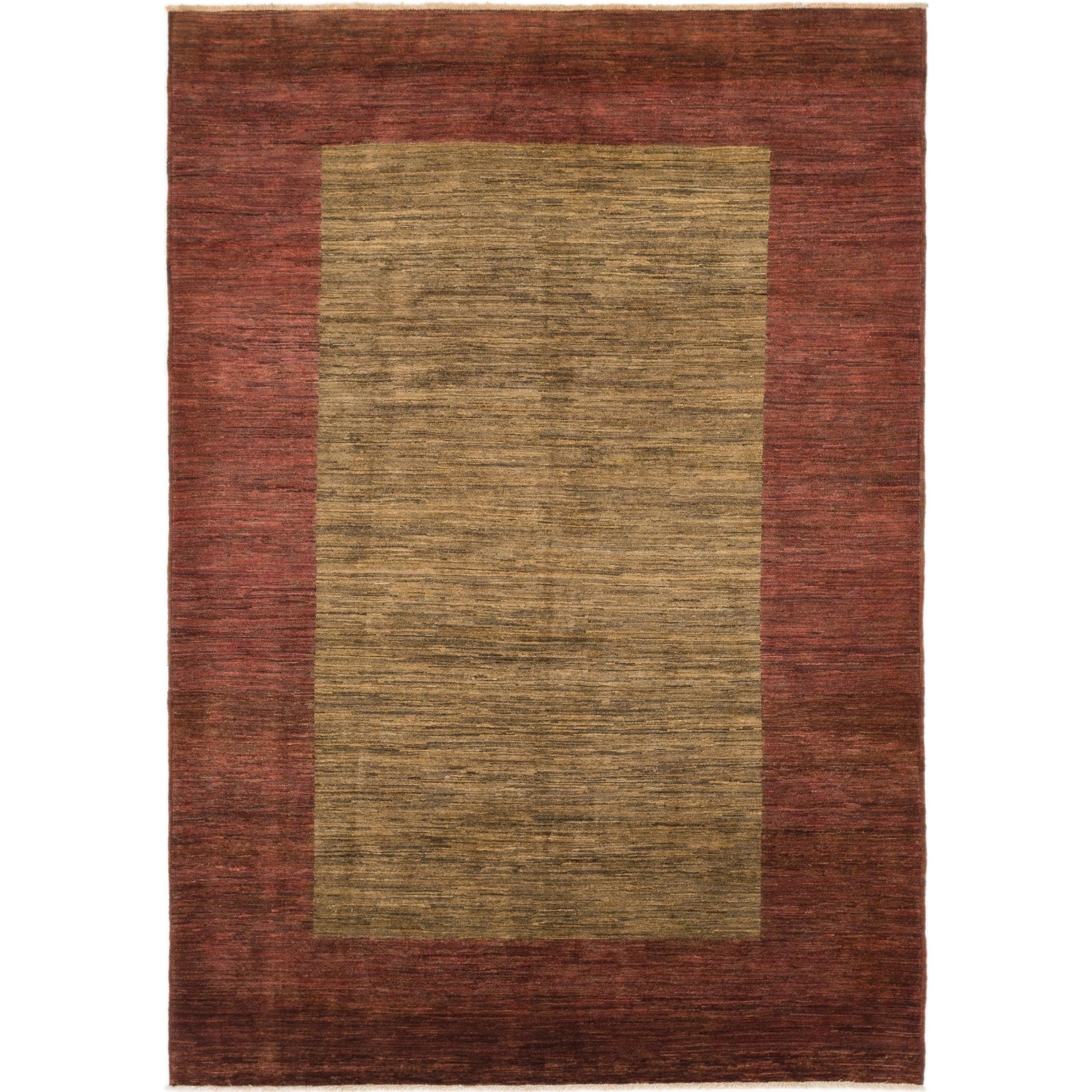 Hand Knotted Kashkuli Gabbeh Wool Runner Rug - 6 8 x 9 7 (Beige - 6 8 x 9 7)