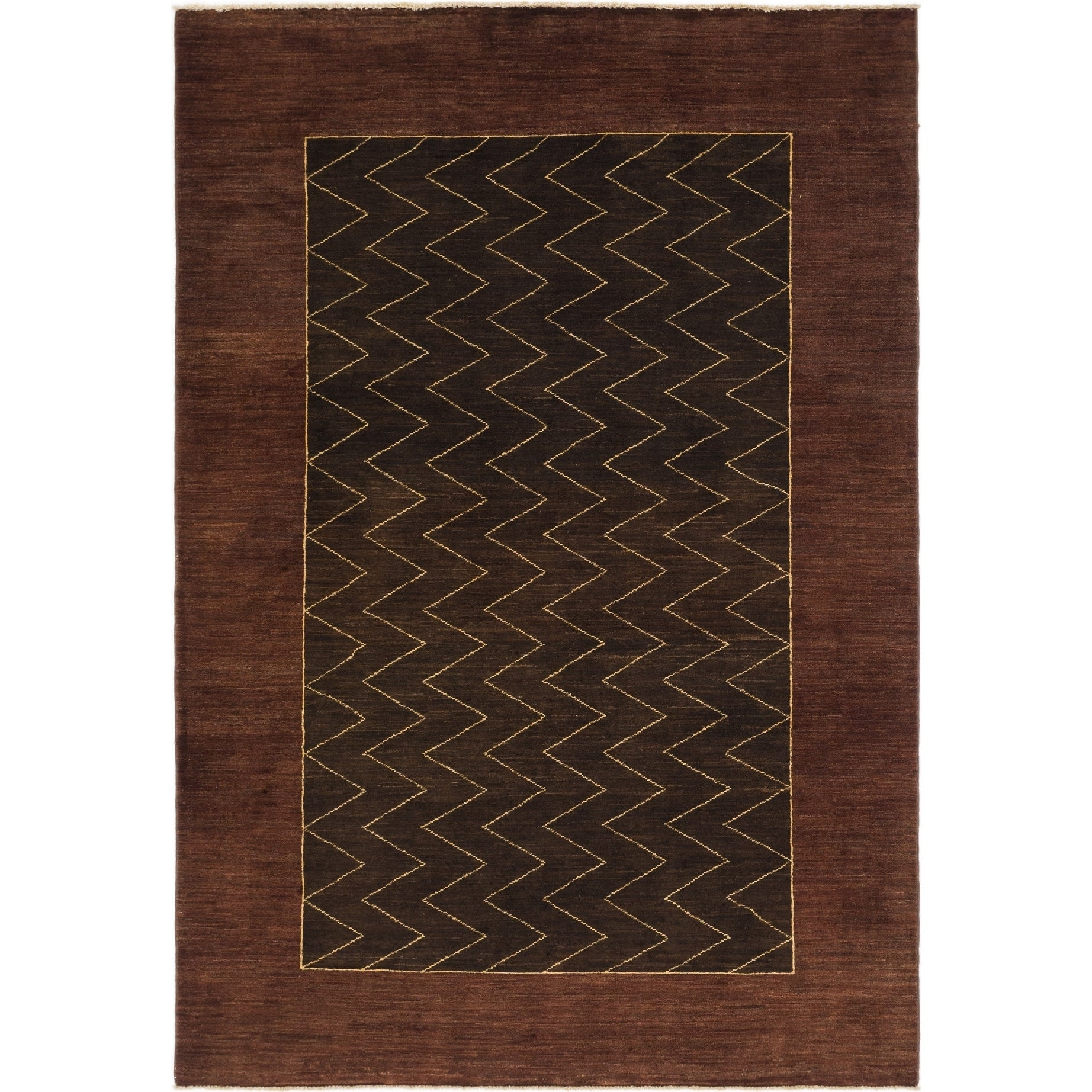 Hand Knotted Kashkuli Gabbeh Wool Area Rug - 5 6 x 8 (Plum Red - 5 6 x 8)