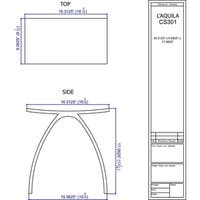 CS301 Solid Surface Vanity Seat - Matte White