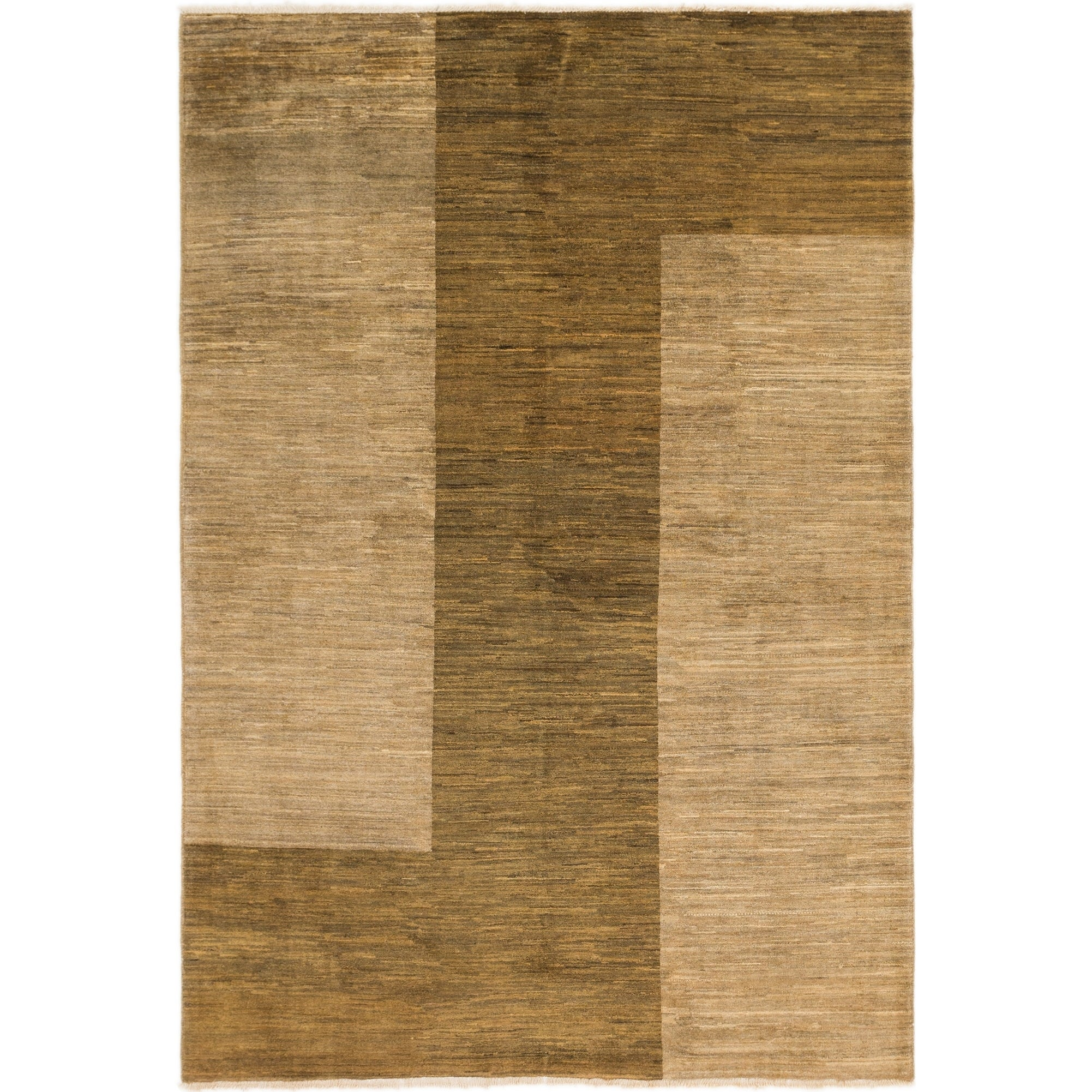 Hand Knotted Kashkuli Gabbeh Wool Area Rug - 6 x 8 9 (Brown - 6 x 8 9)