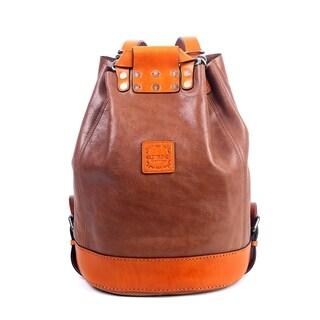 Old Trend Stars Align Genuine Leather Bucket Bag / Backpack