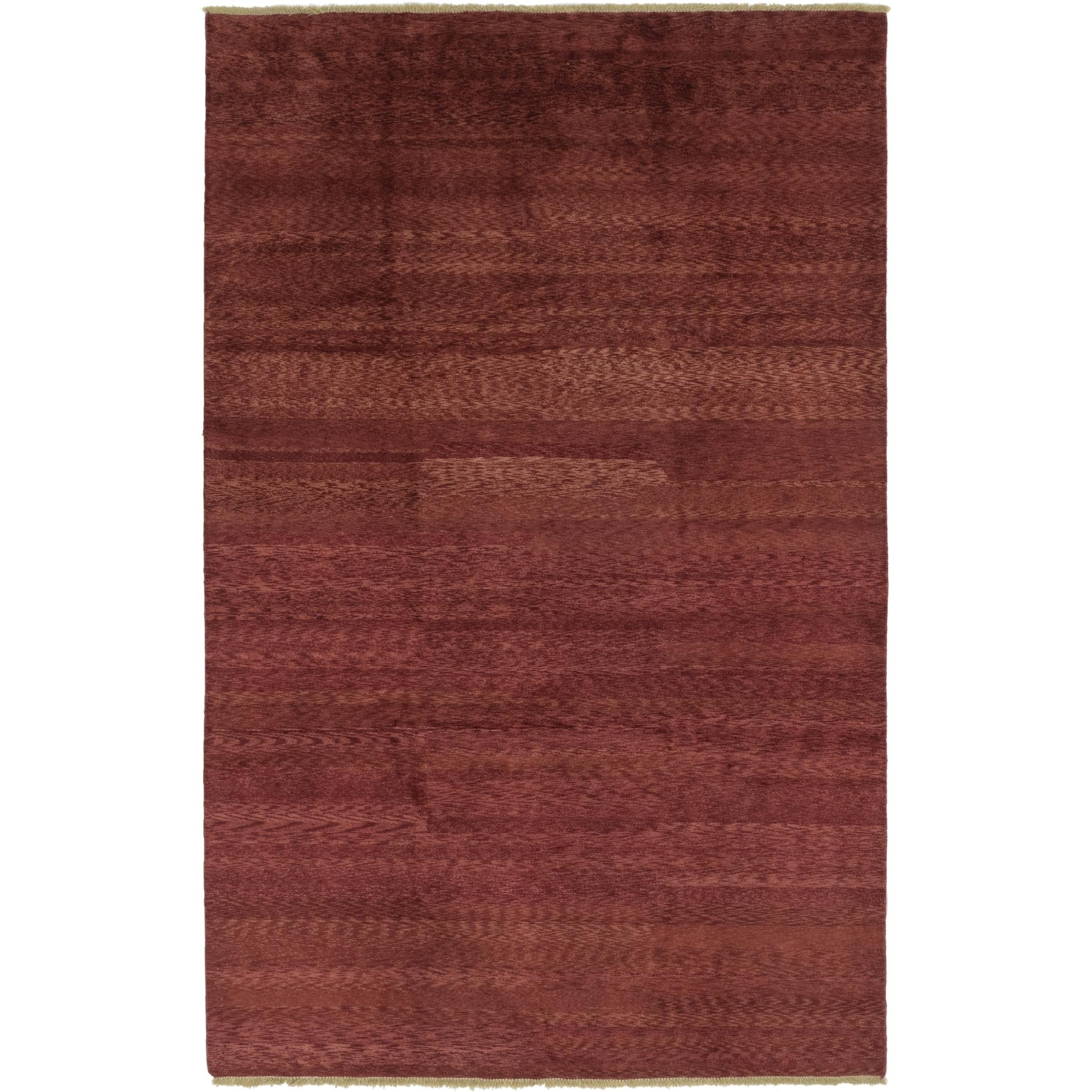 Hand Knotted Kashkuli Gabbeh Wool Area Rug - 7 x 11 (Burgundy - 7 x 11)