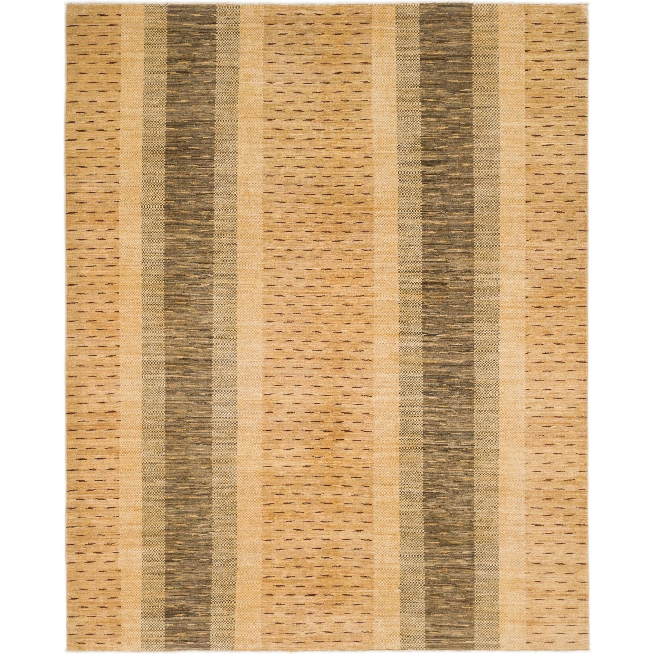 Hand Knotted Kashkuli Gabbeh Wool Area Rug - 6 9 x 8 4 (Tan - 6 9 x 8 4)