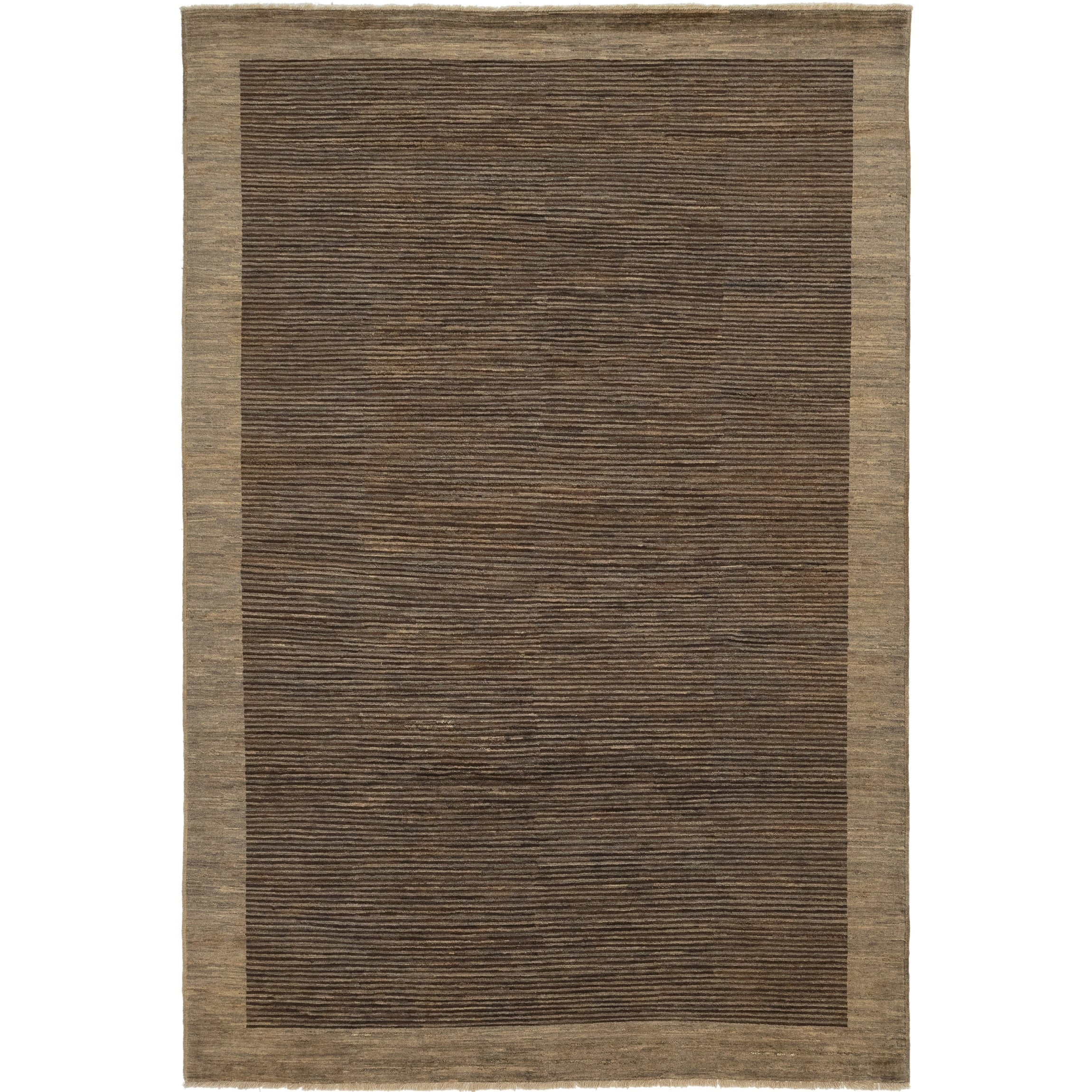 Hand Knotted Kashkuli Gabbeh Wool Area Rug - 6 7 x 9 9 (Brown - 6 7 x 9 9)