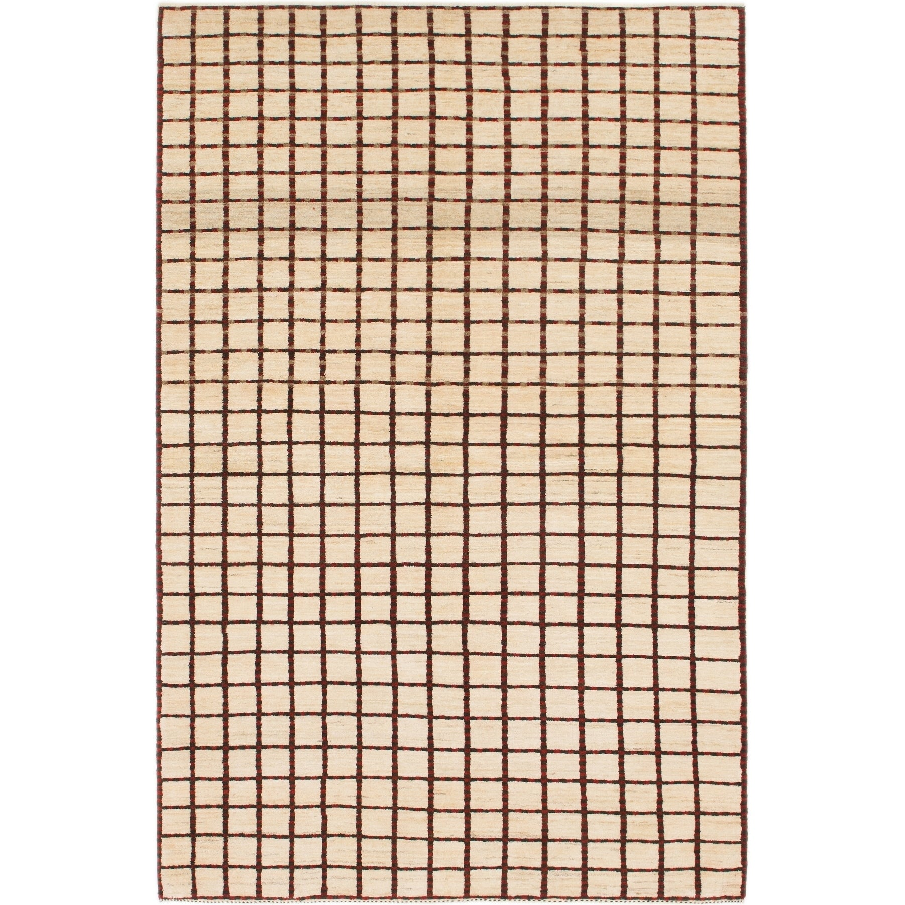 Hand Knotted Kashkuli Gabbeh Wool Area Rug - 5 4 x 8 2 (Cream - 5 4 x 8 2)