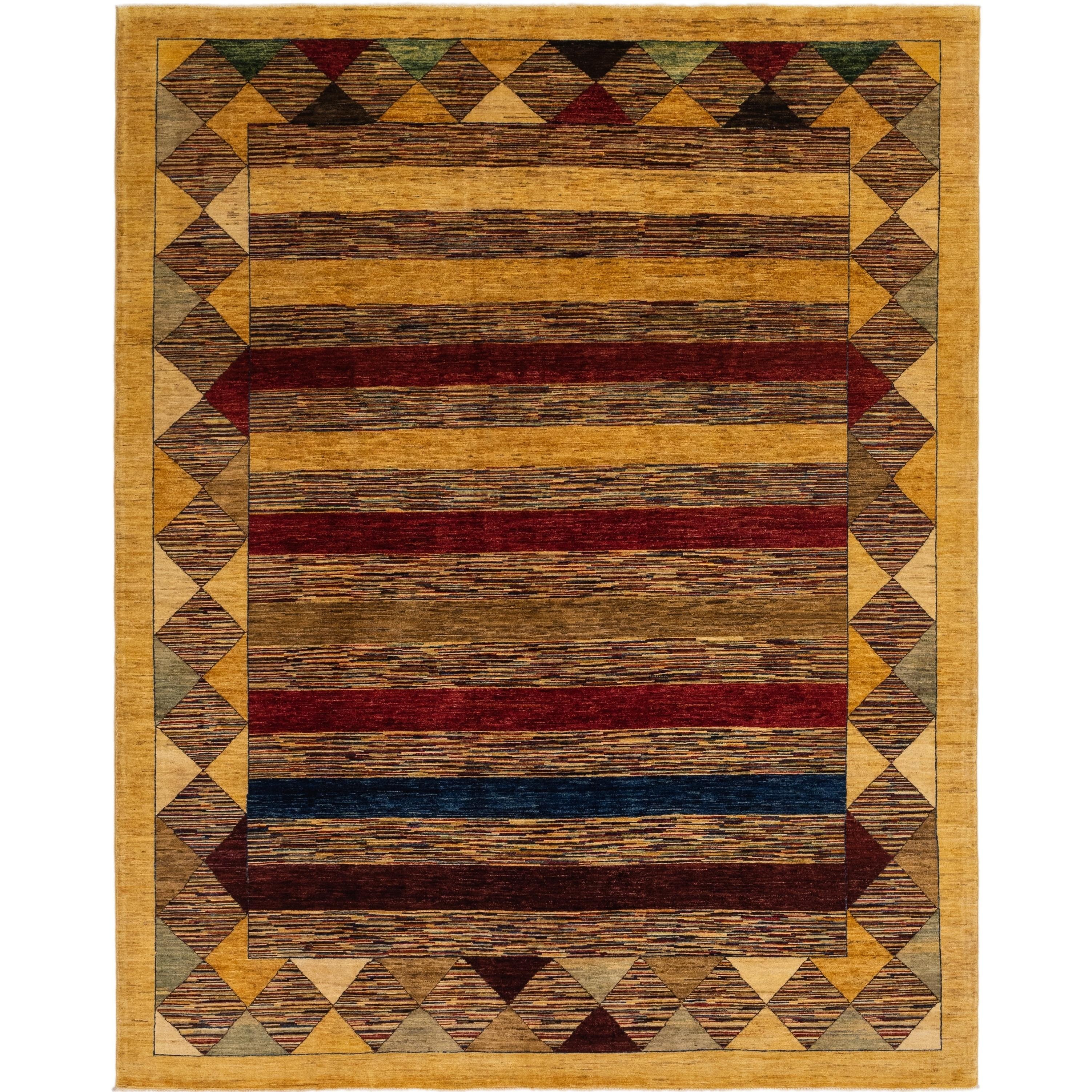 Hand Knotted Kashkuli Gabbeh Wool Area Rug - 9 x 11 5 (Multi - 9 x 11 5)