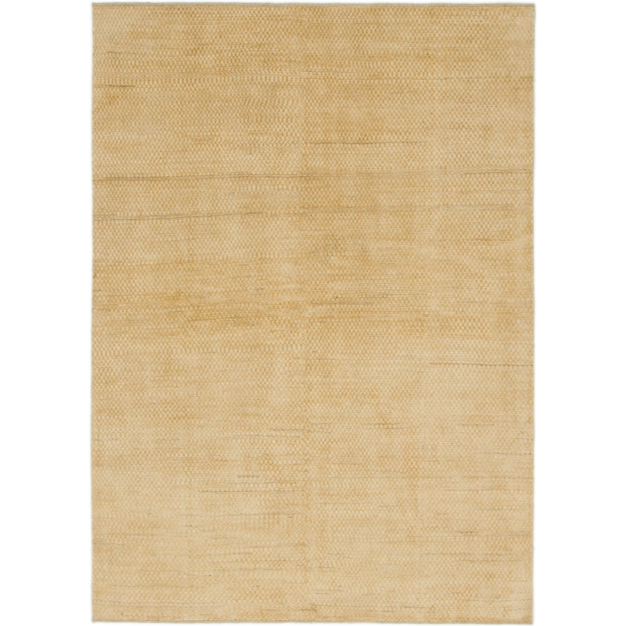 Hand Knotted Kashkuli Gabbeh Wool Area Rug - 5 7 x 7 10 (Cream - 5 7 x 7 10)