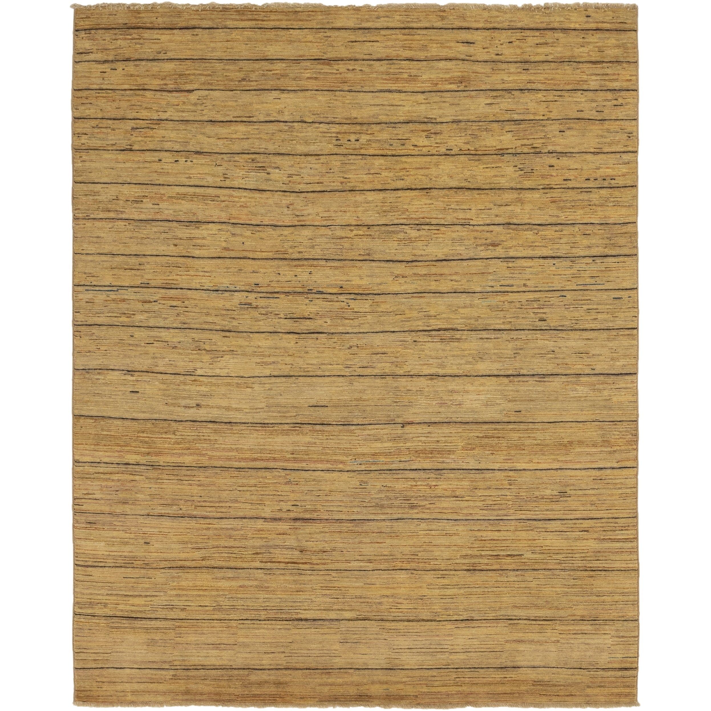 Hand Knotted Kashkuli Gabbeh Wool Area Rug - 6 3 x 9 2 (Gold - 6 3 x 9 2)