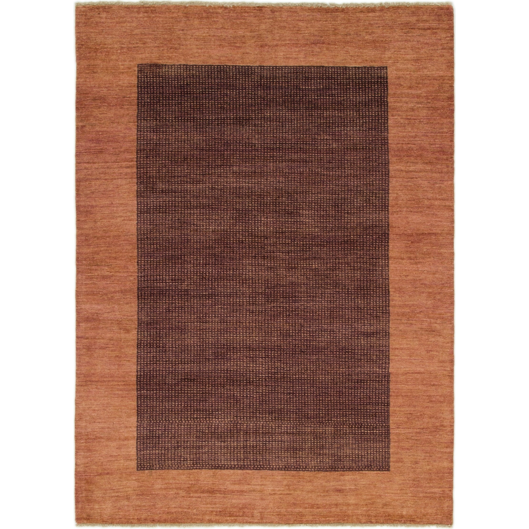 Hand Knotted Kashkuli Gabbeh Wool Area Rug - 5 8 x 7 9 (puce - 5 8 x 7 9)