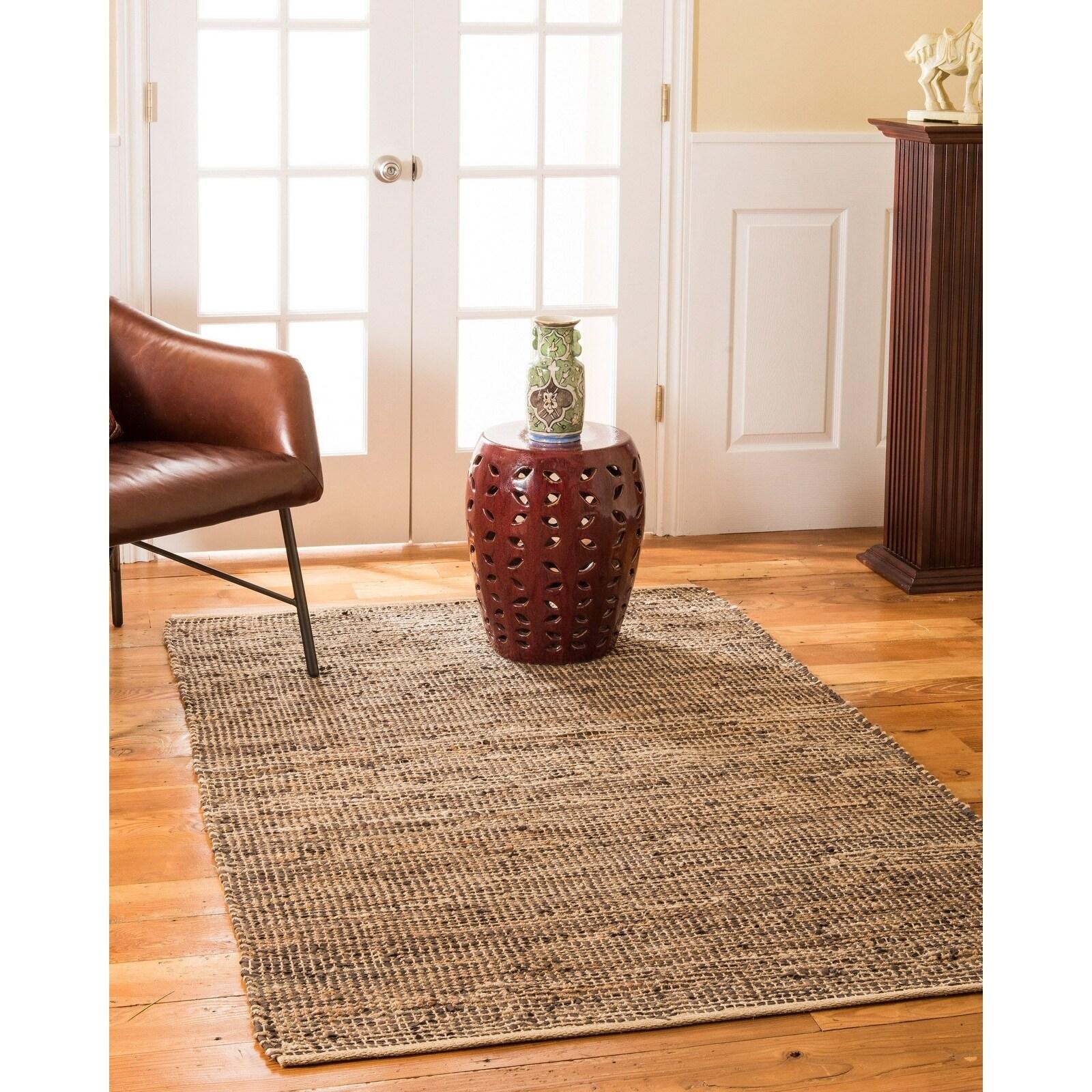 Natural Area Rugs 100% Natural Fiber Handmade Reversible Cosmo Jute Rectangular Rug (9 X 12) Brown - 9 x 12 (9 x 12 - Brown)